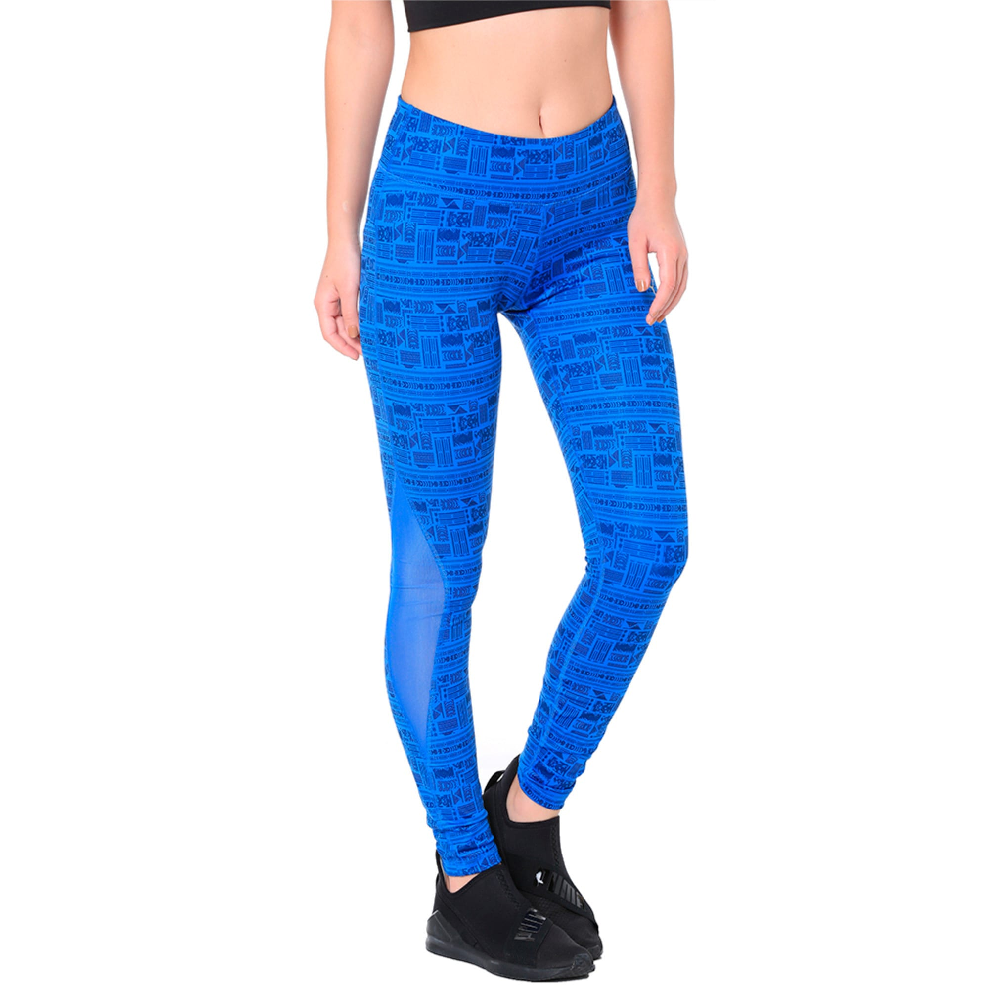 Thumbnail 2 of All Eyes On Me Mesh Women's Tights, Nebulas Blue-Soltice, medium-IND