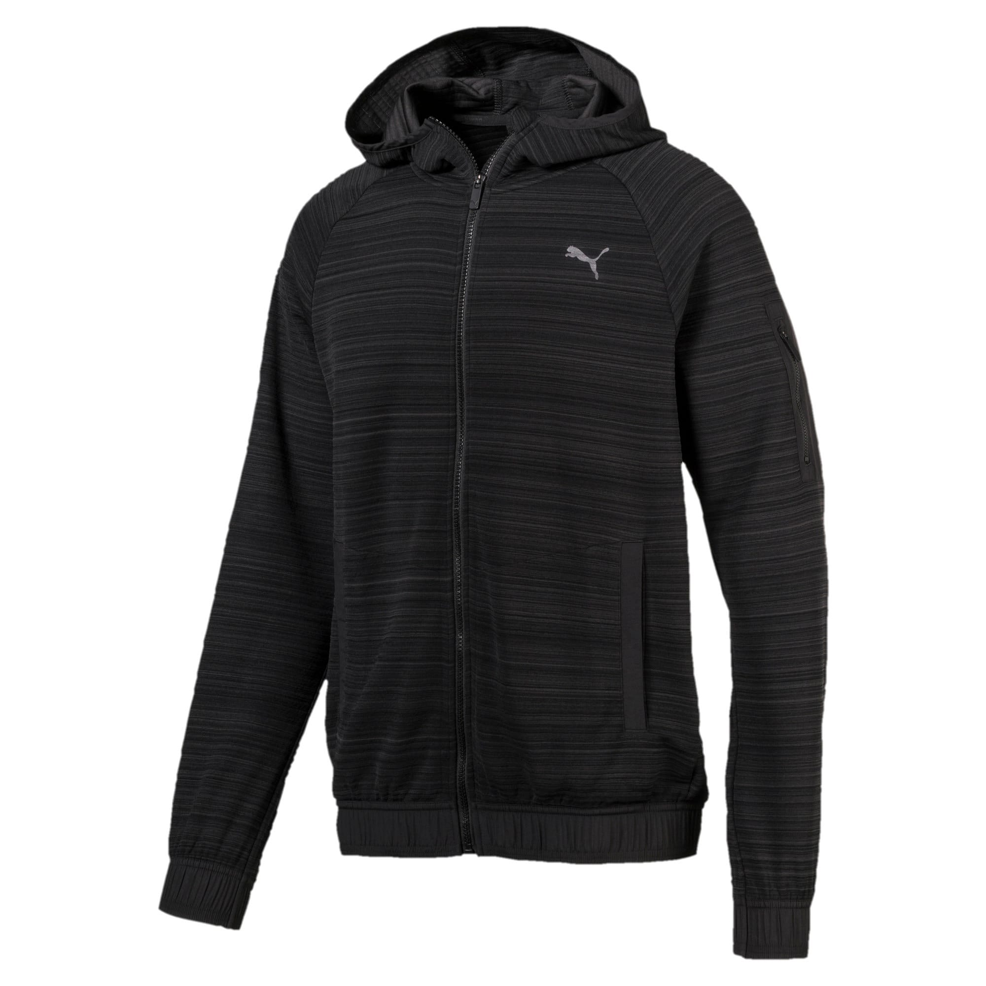 Thumbnail 5 of Energy Men's Full Zip Hoodie, Puma Black Heather, medium-IND