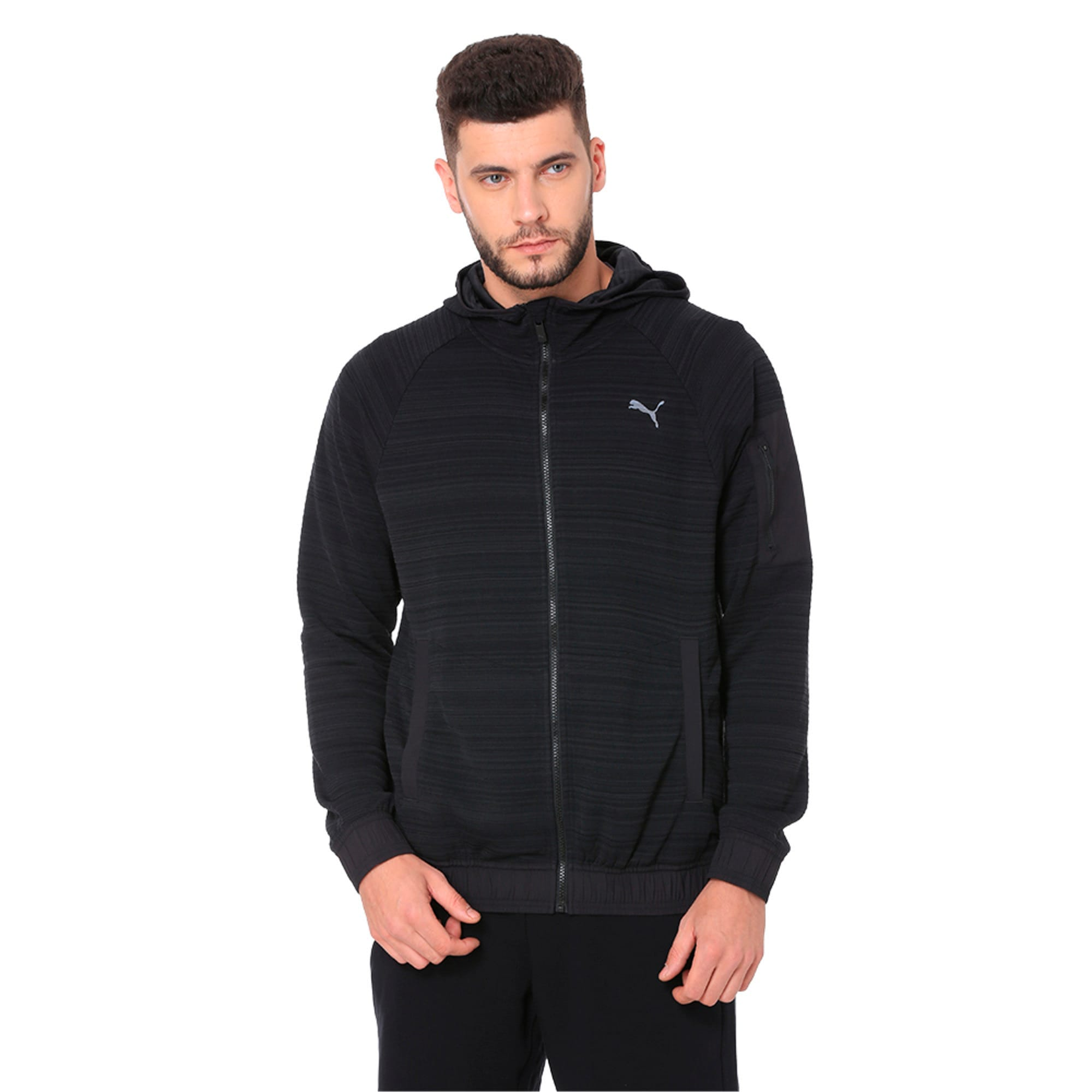Thumbnail 1 of Energy Men's Full Zip Hoodie, Puma Black Heather, medium-IND