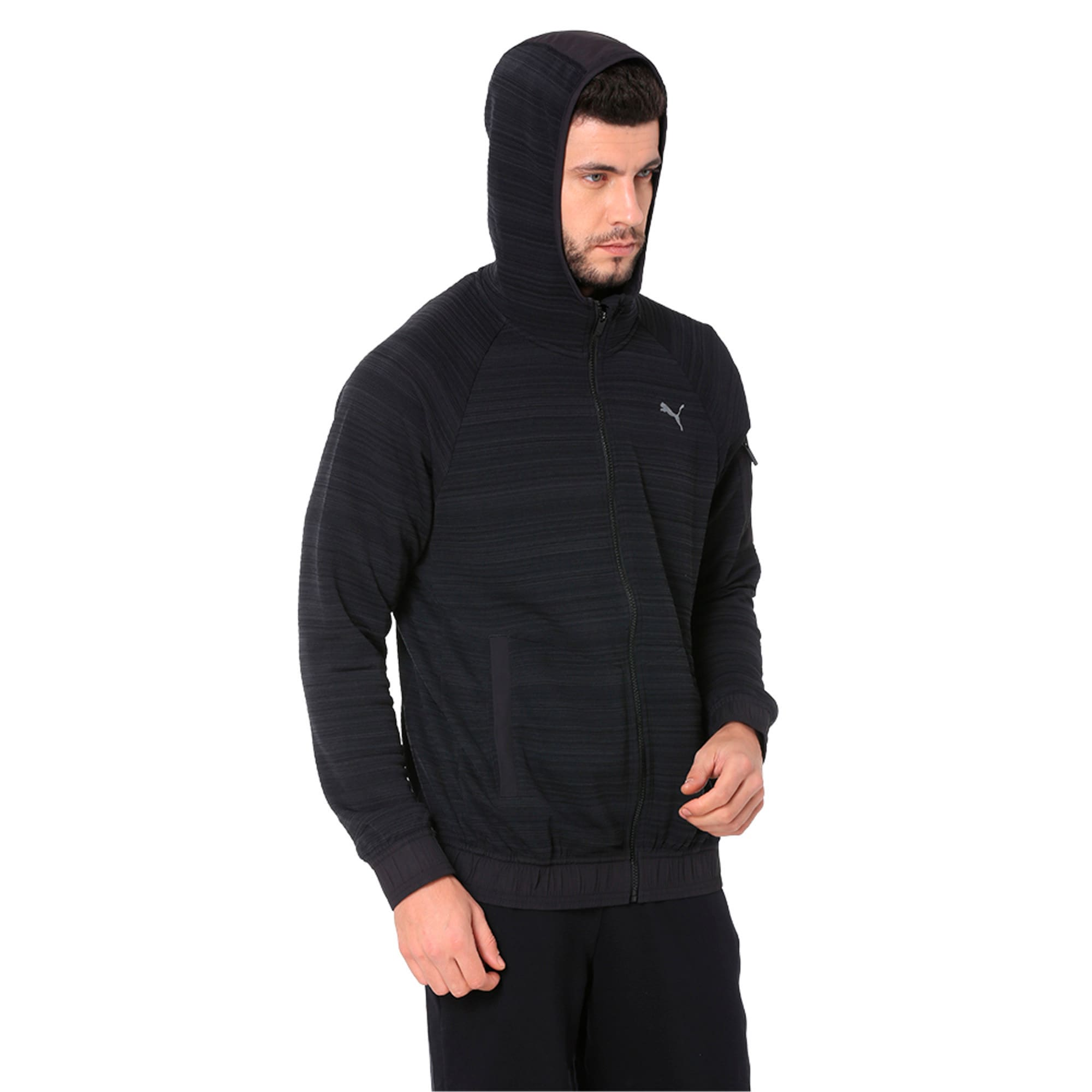 Thumbnail 3 of Energy Men's Full Zip Hoodie, Puma Black Heather, medium-IND