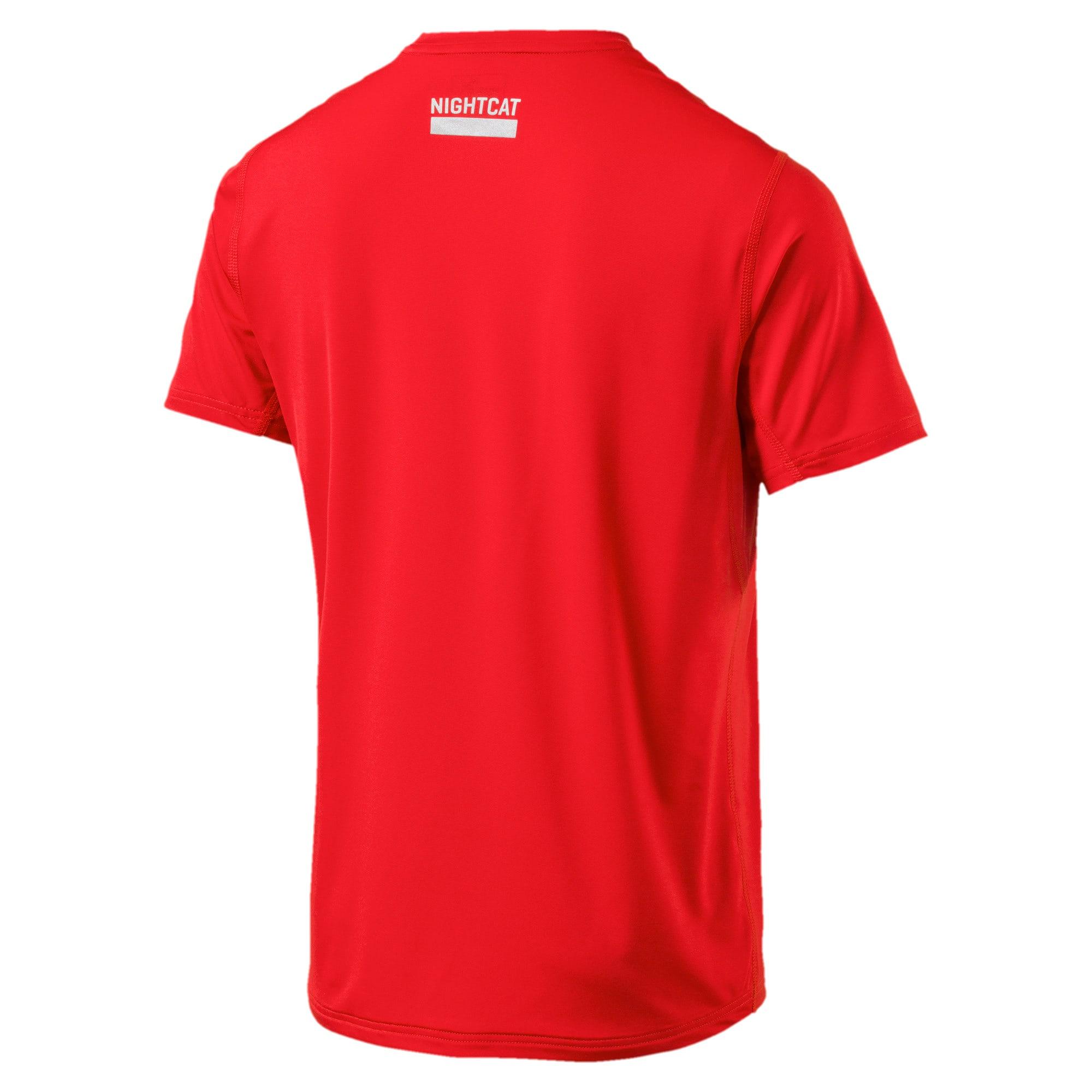 Thumbnail 2 of NightCat Men's Short Sleeve T-Shirt, Flame Scarlet, medium-IND