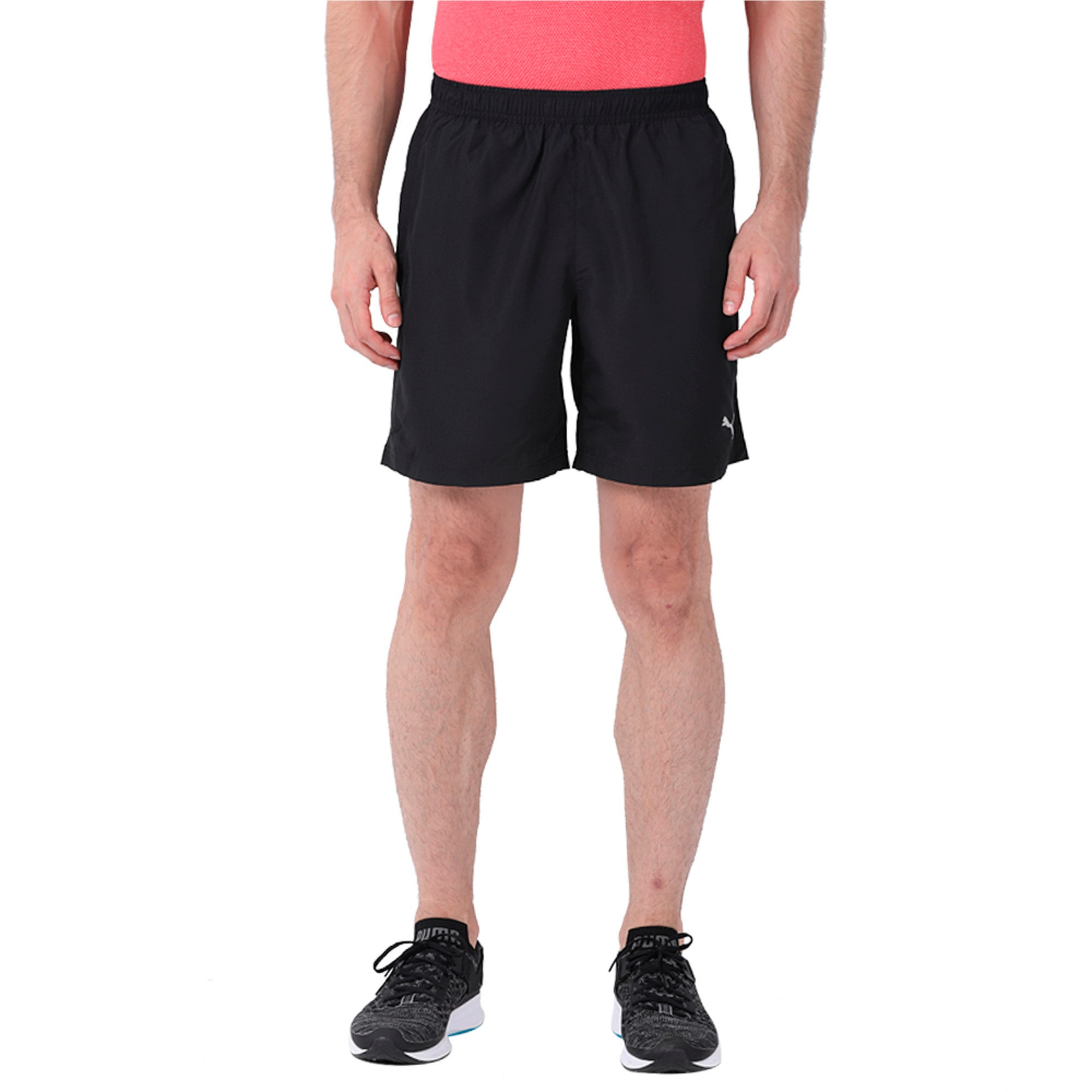 "Thumbnail 4 of Core-Run 7"" Shorts, Puma Black, medium-IND"