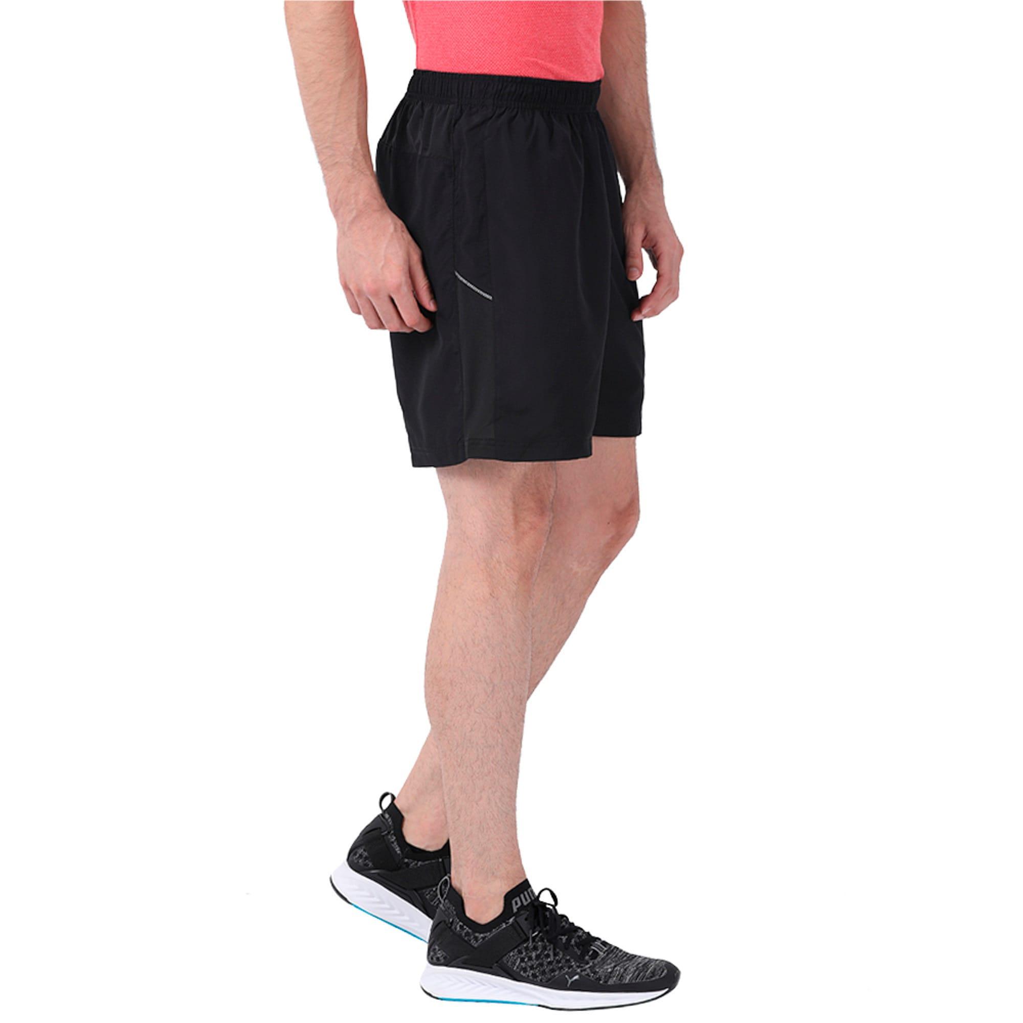 "Thumbnail 2 of Core-Run 7"" Shorts, Puma Black, medium-IND"