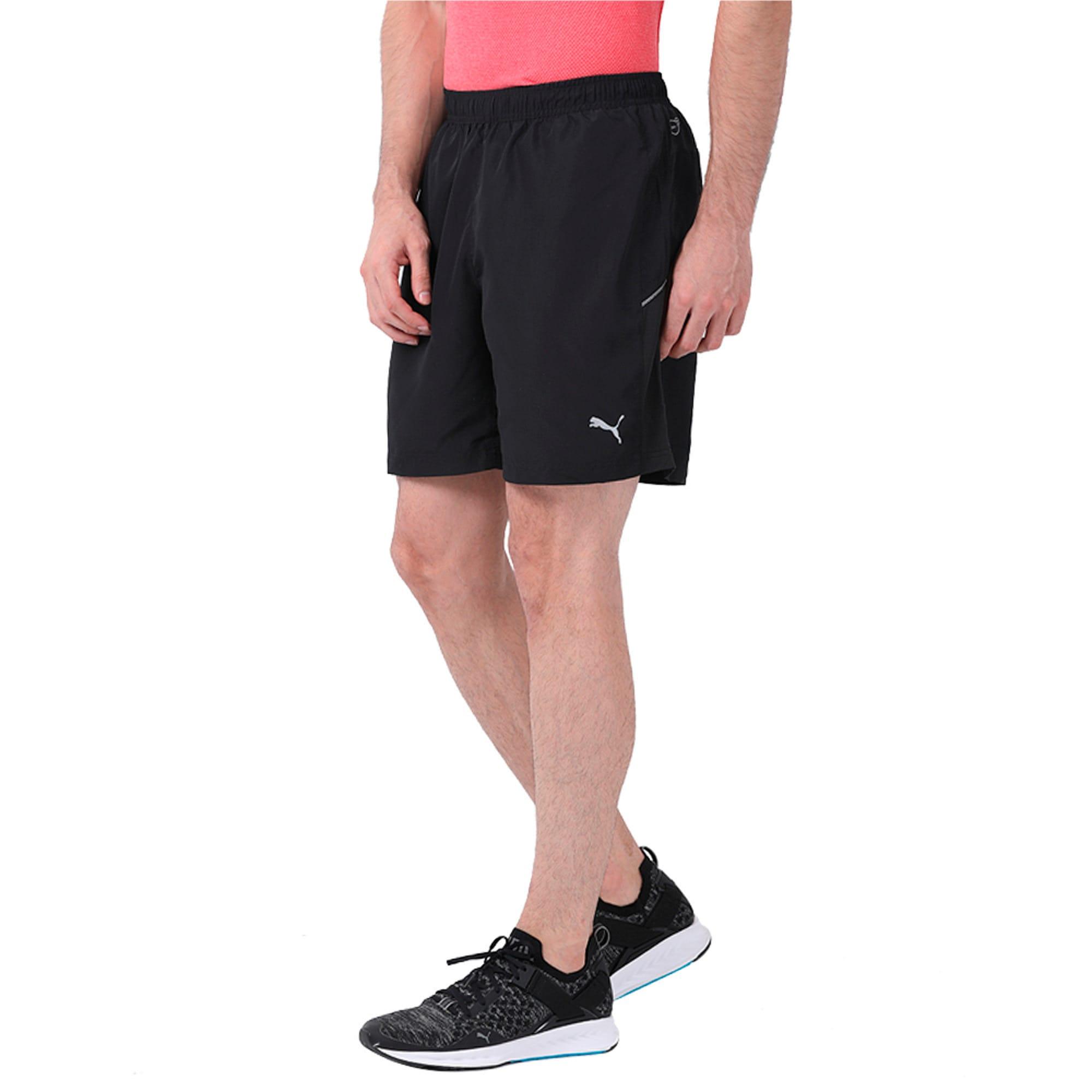 "Thumbnail 3 of Core-Run 7"" Shorts, Puma Black, medium-IND"