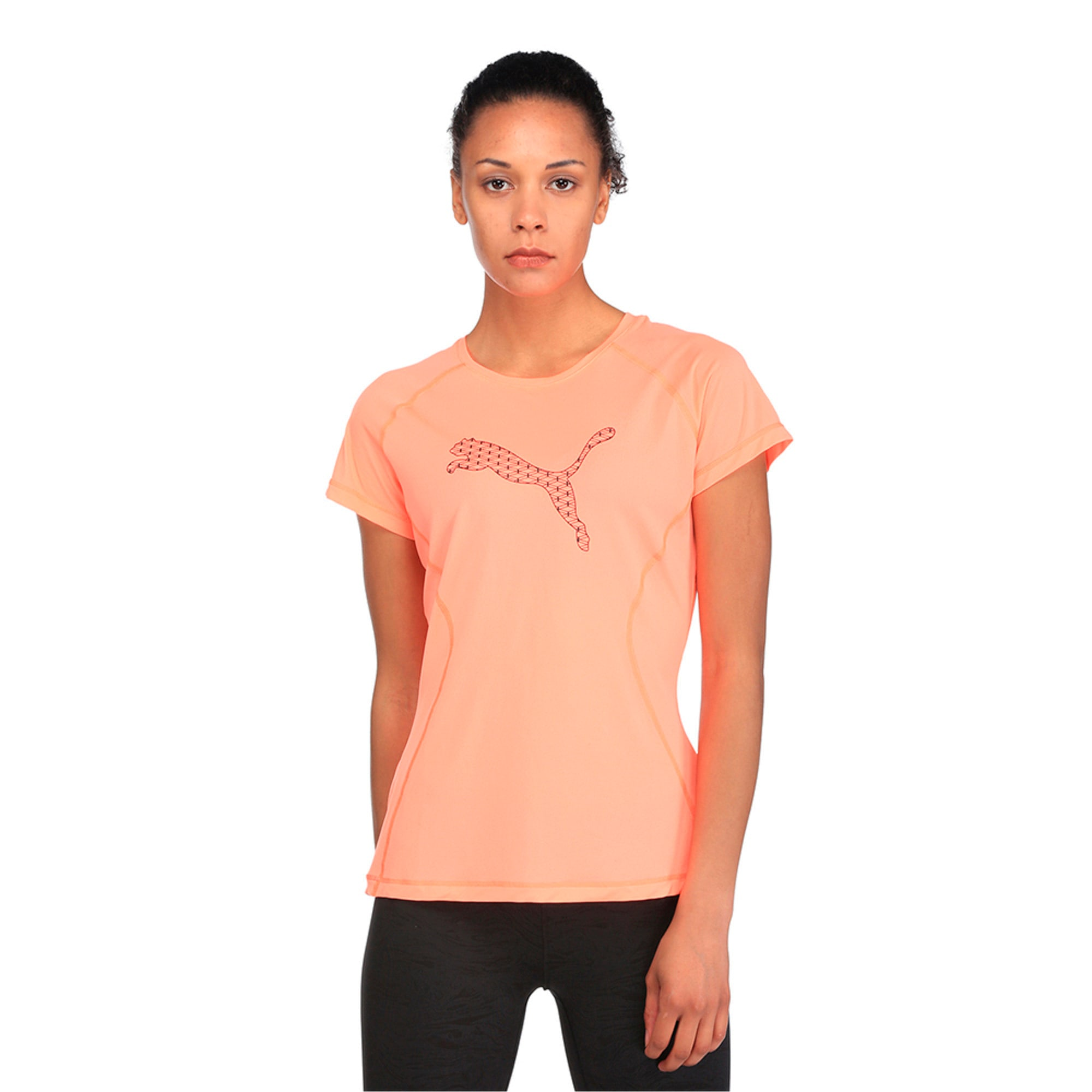 Core-Run S S Logo Tee W, Nrgy Peach, large-IND