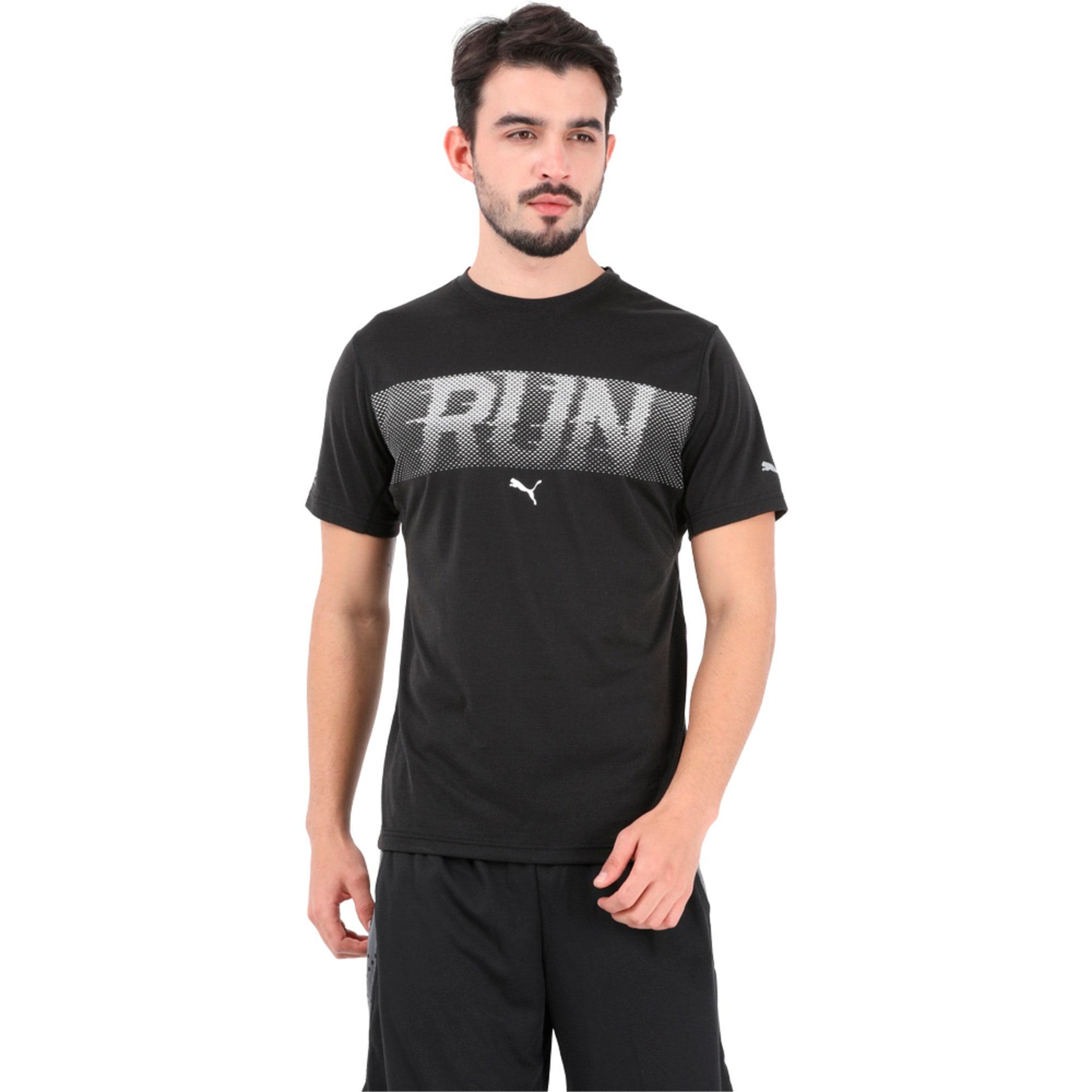 Thumbnail 3 of Run S S Tee, Puma Black, medium-IND