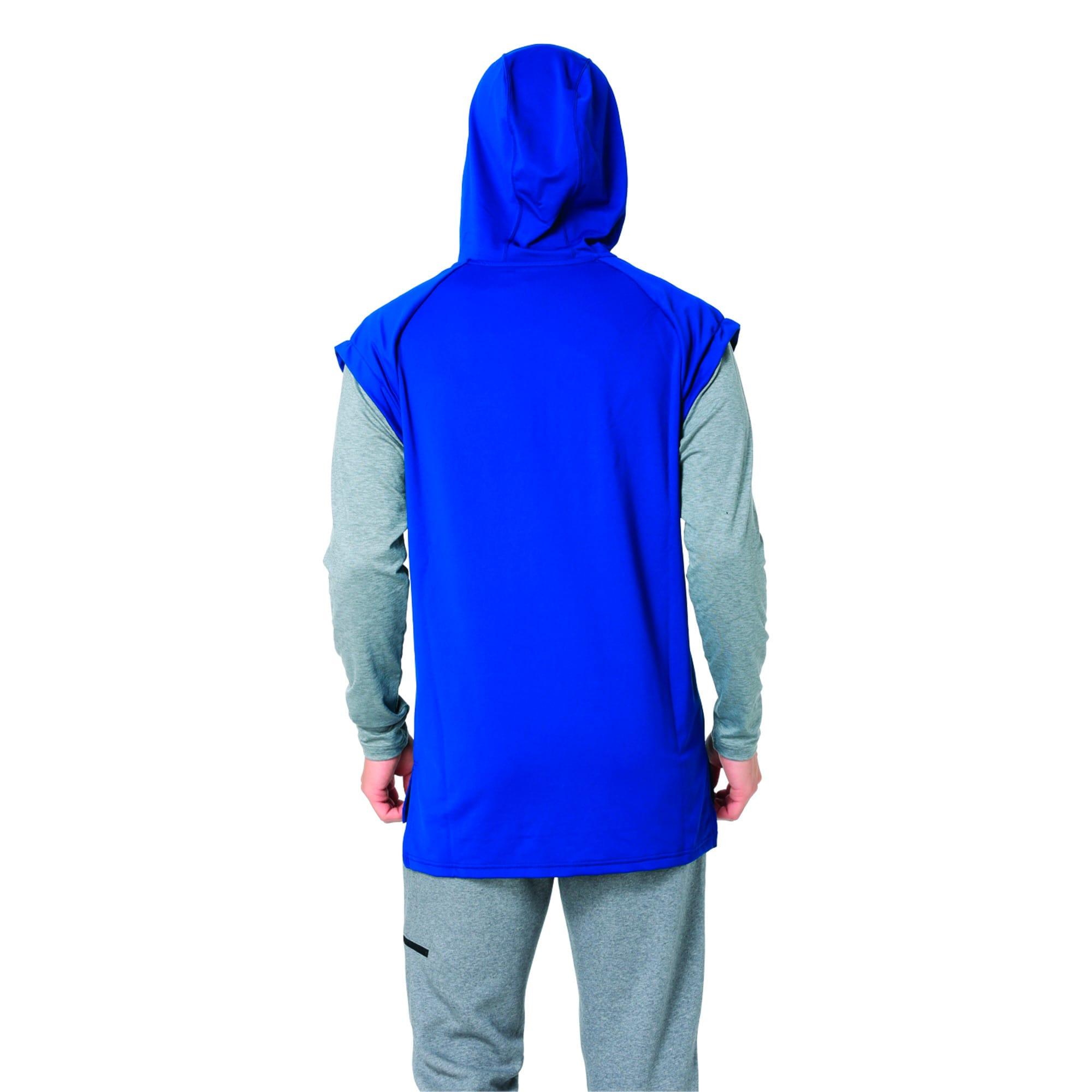 Thumbnail 3 of Active Training Men's Tech Fleece 1/4 Zip Hoodie, Sailor Blue, medium-IND