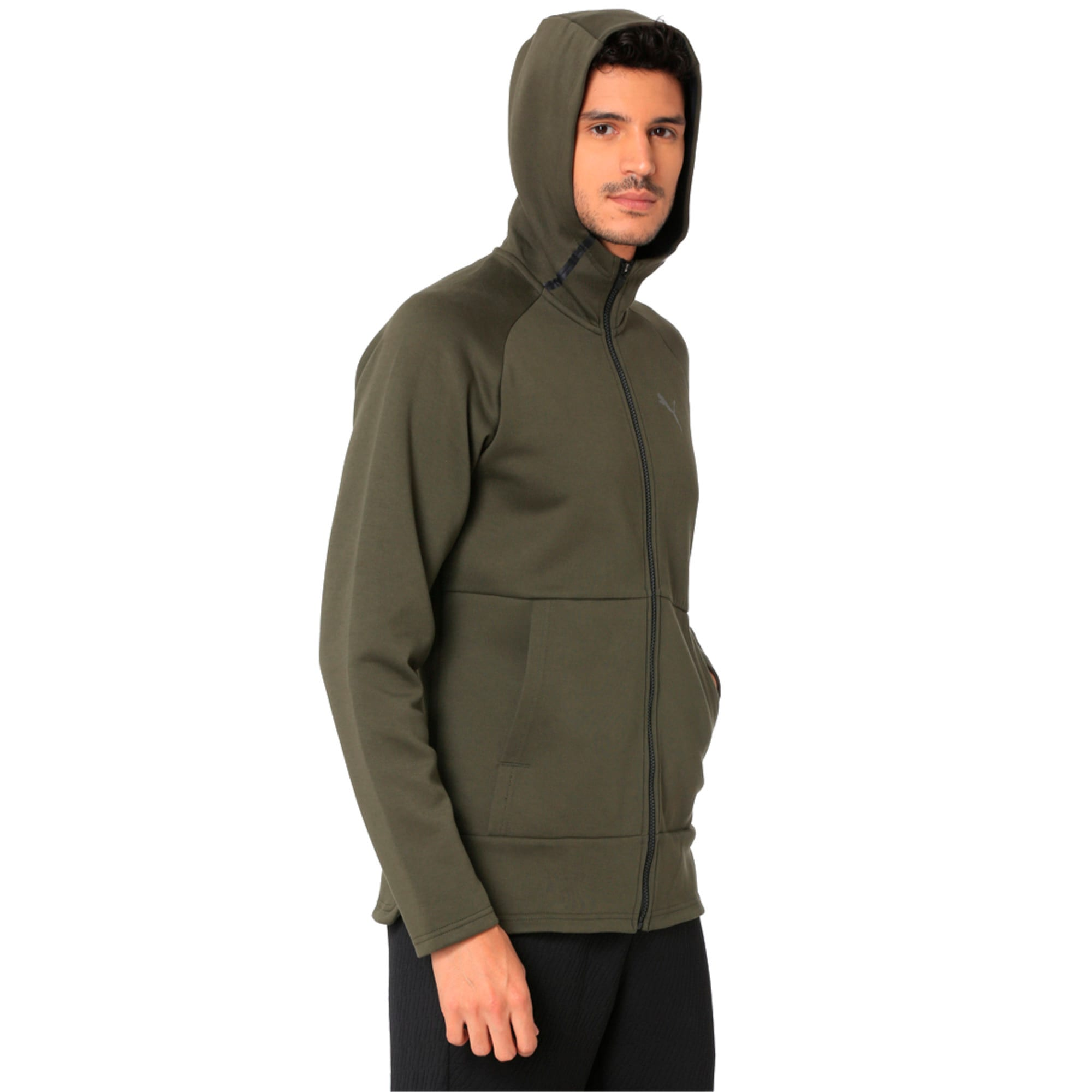 Thumbnail 2 of BND Tech Protect Zip-Up Hooded Men's Jacket, Forest Night, medium-IND