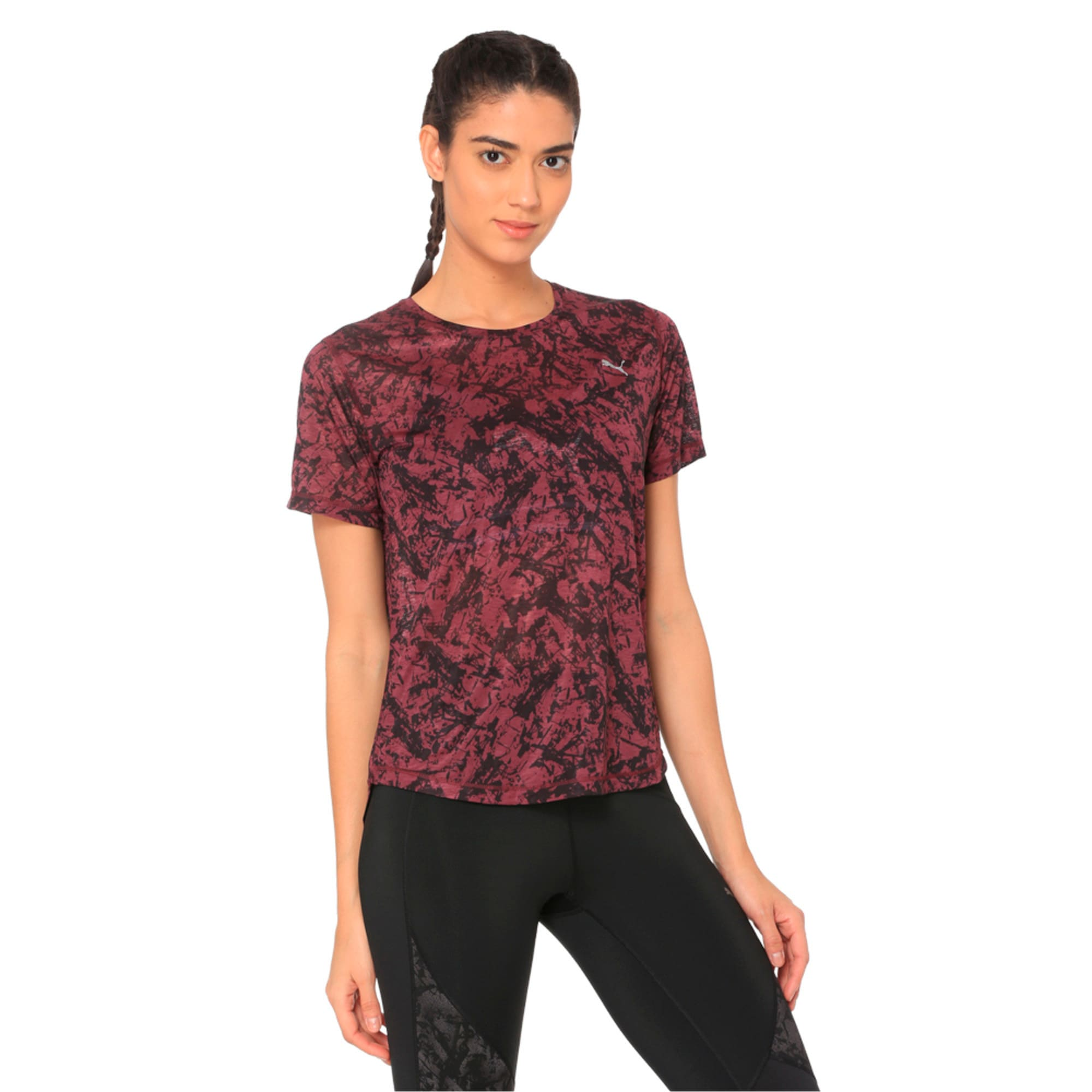 Thumbnail 2 of Graphic Women's Training Top, fig, medium-IND