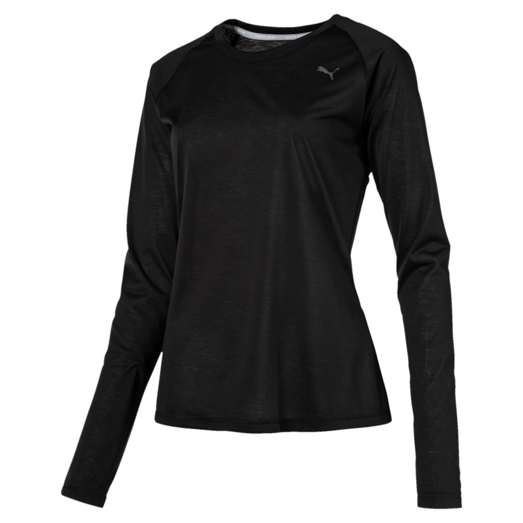 Thumbnail 3 of Running Women's IGNITE Long Sleeve, Puma Black, medium-IND
