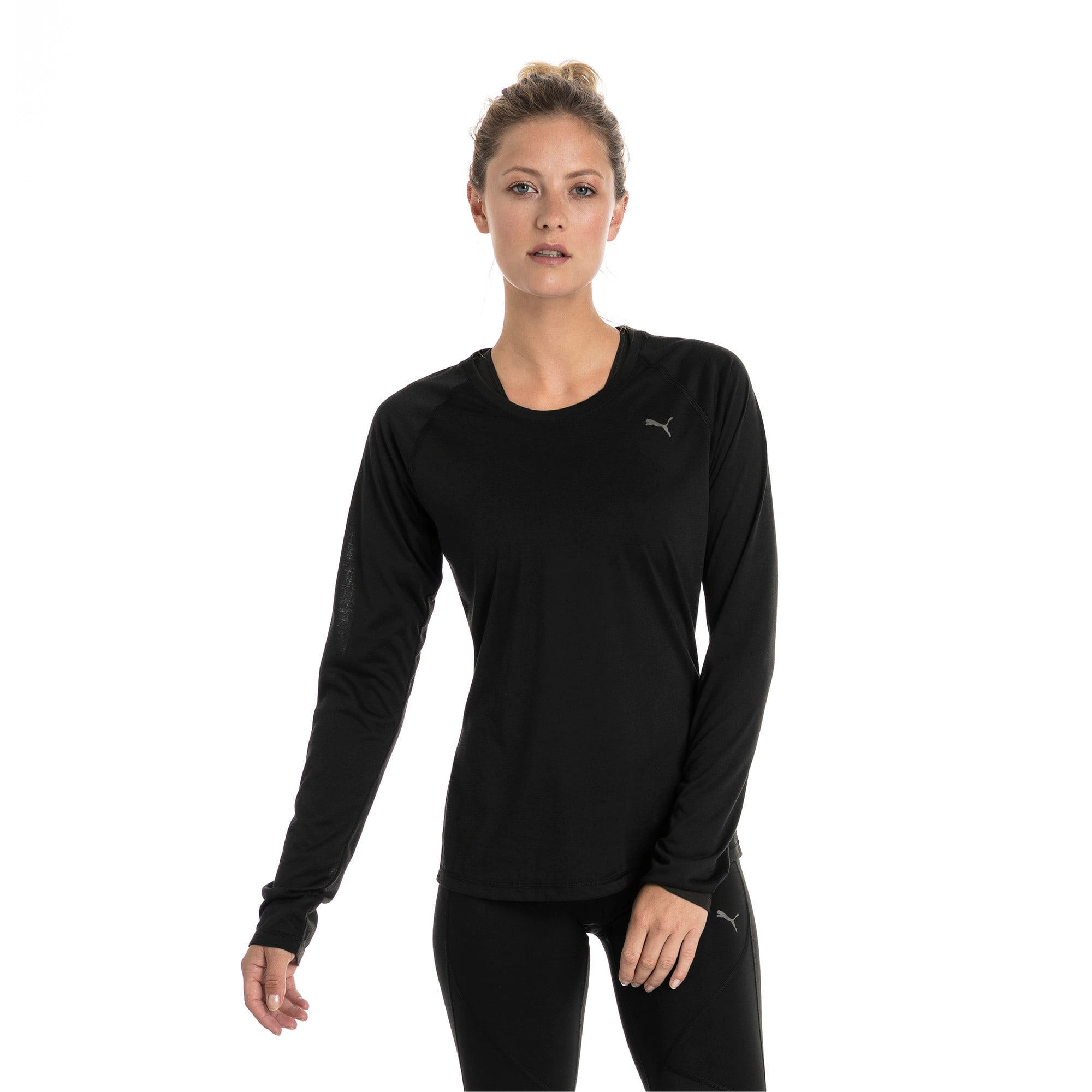 Thumbnail 1 of Running Women's IGNITE Long Sleeve, Puma Black, medium-IND