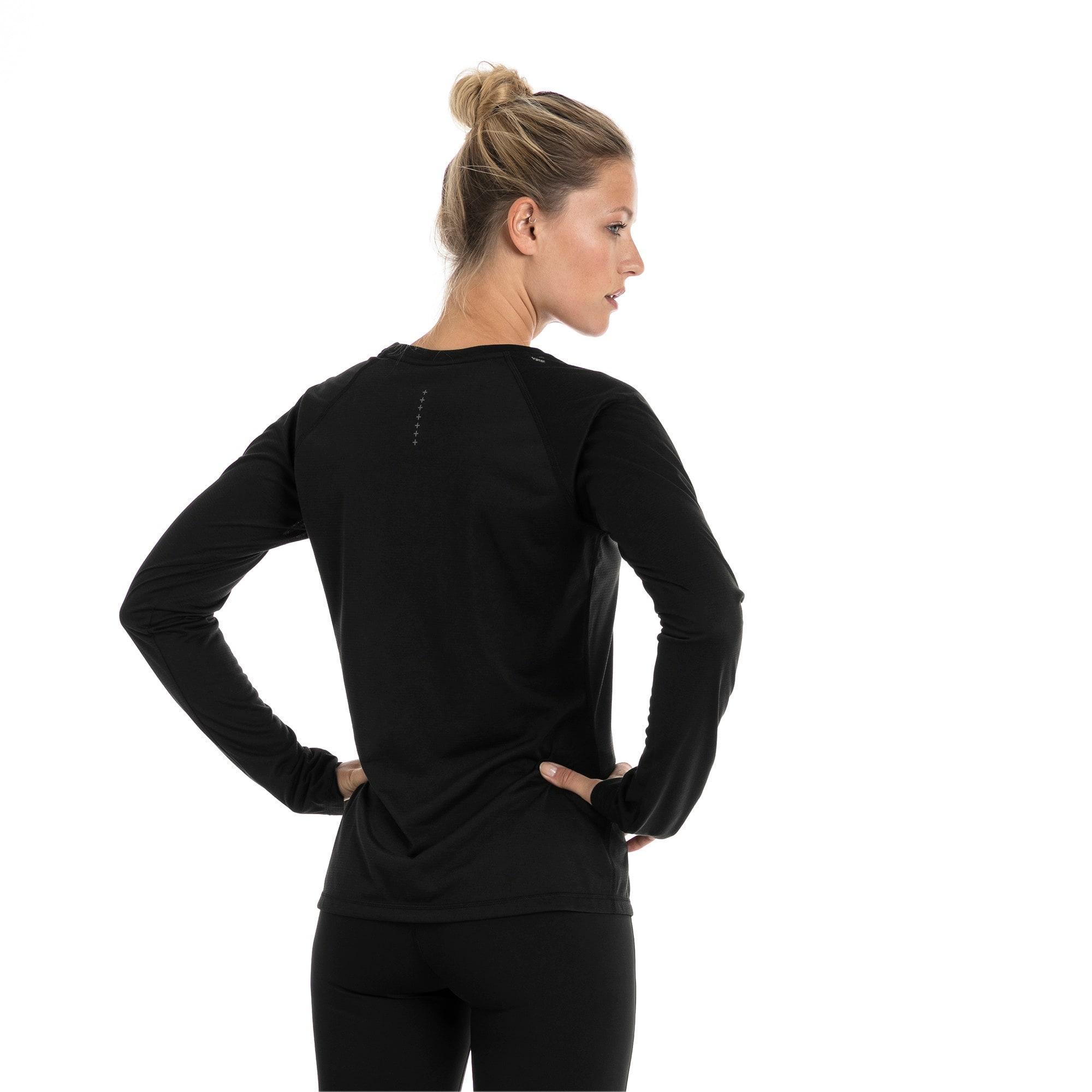 Thumbnail 2 of Running Women's IGNITE Long Sleeve, Puma Black, medium-IND