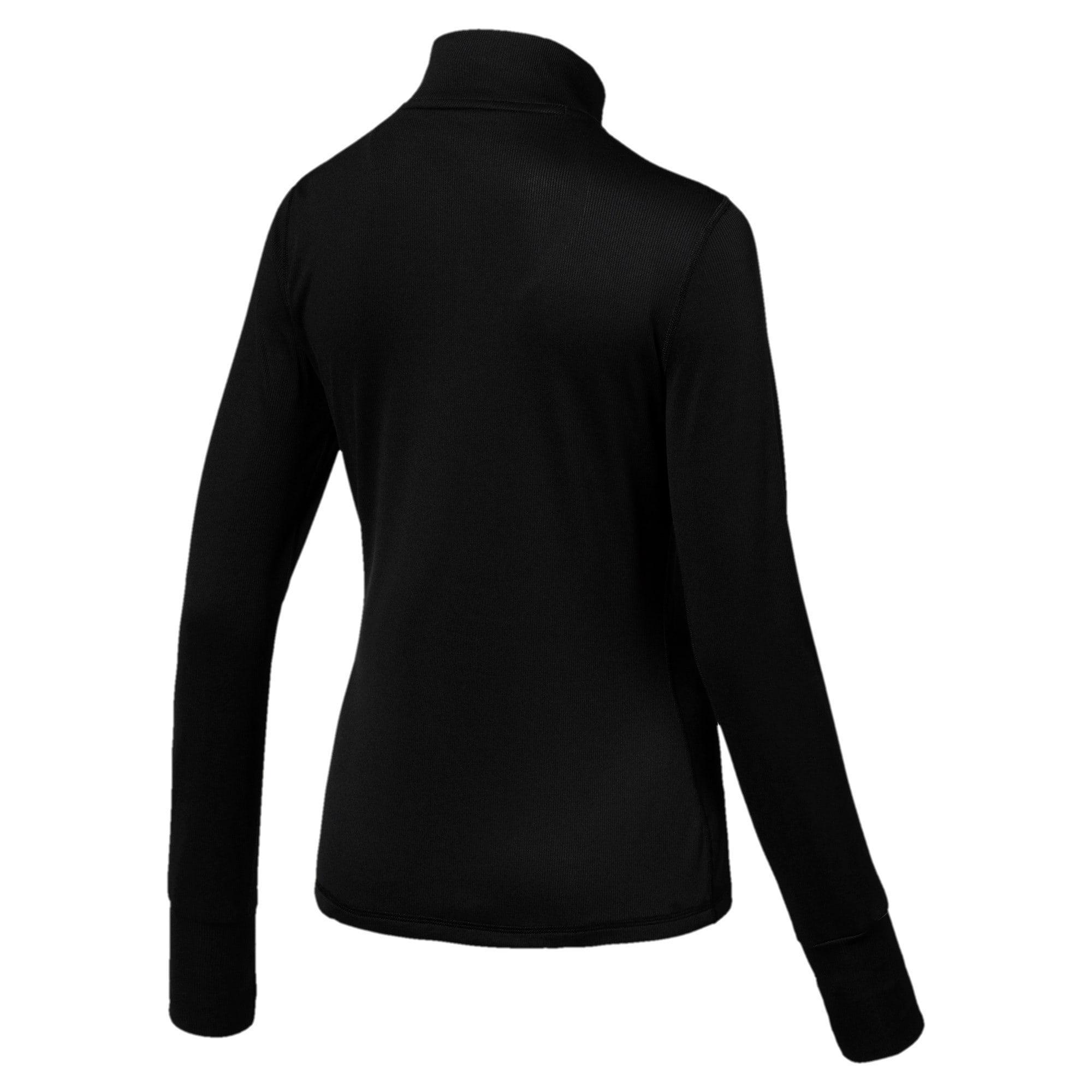 Thumbnail 4 of Ignite Half Zip Women's Running Pullover, Puma Black, medium-IND