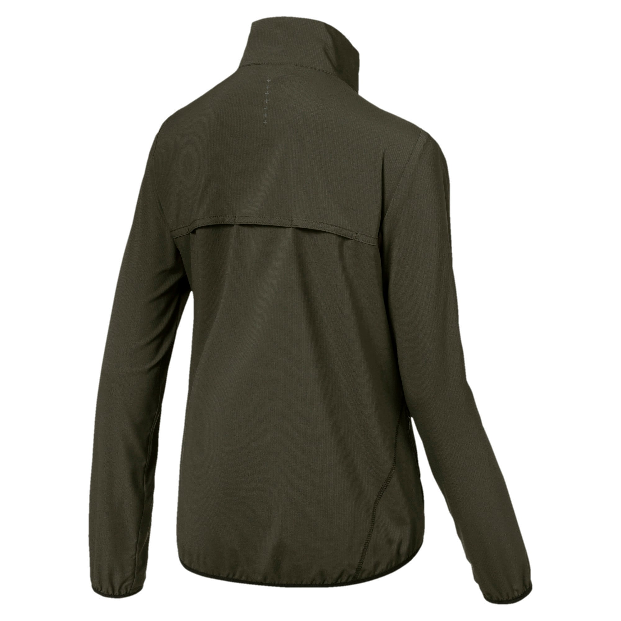 Thumbnail 4 of IGNITE Zip-Up Women's Running Wind Jacket, Forest Night-Black-Orchid, medium-IND
