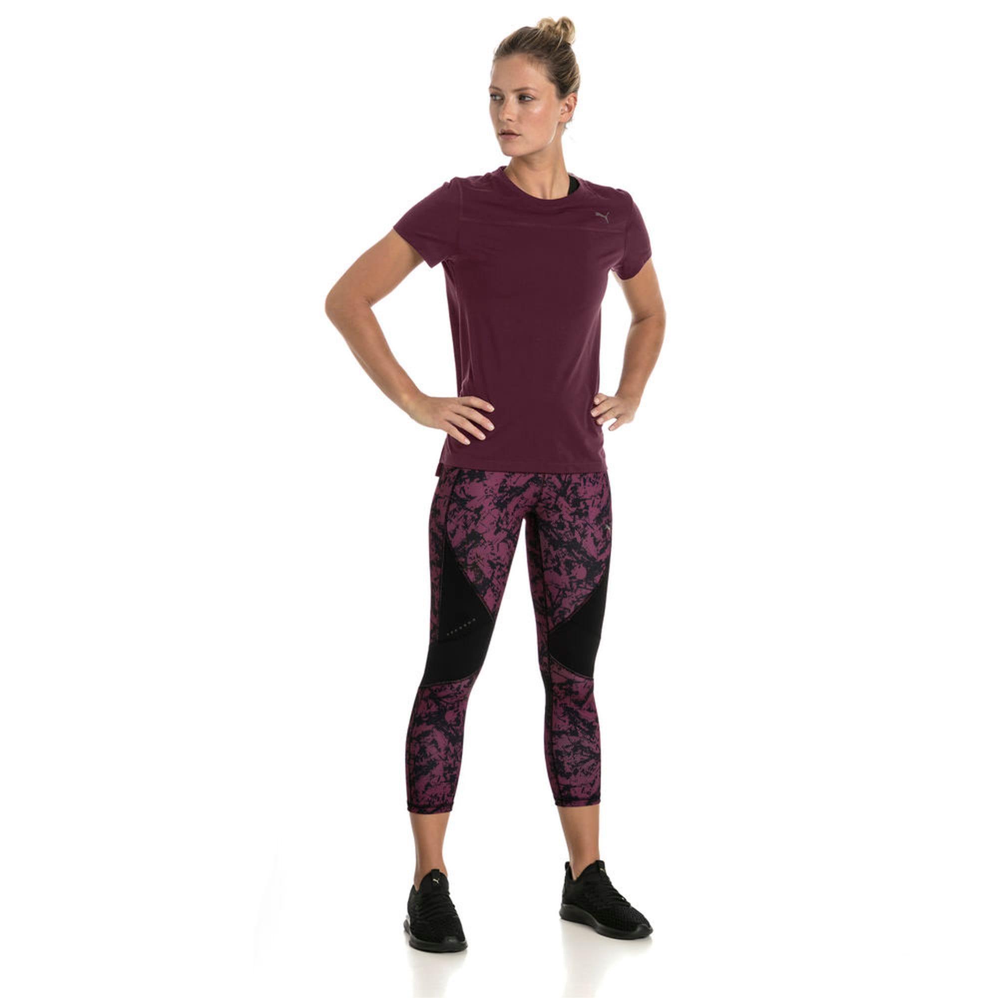 Thumbnail 3 of IGNITE Graphic Women's Running 3/4 Tights, Puma Black-Fig, medium-IND