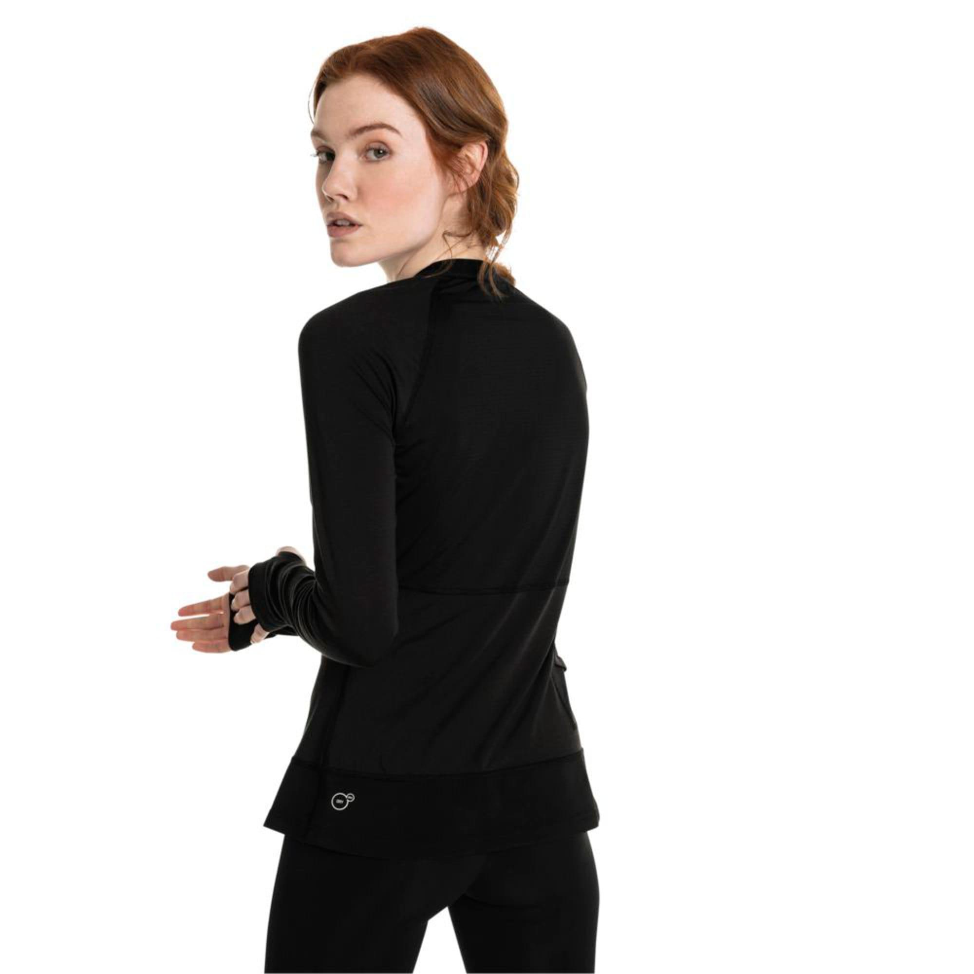 Thumbnail 4 of Winter Long Sleeve Women's Training Top, Puma Black, medium-IND