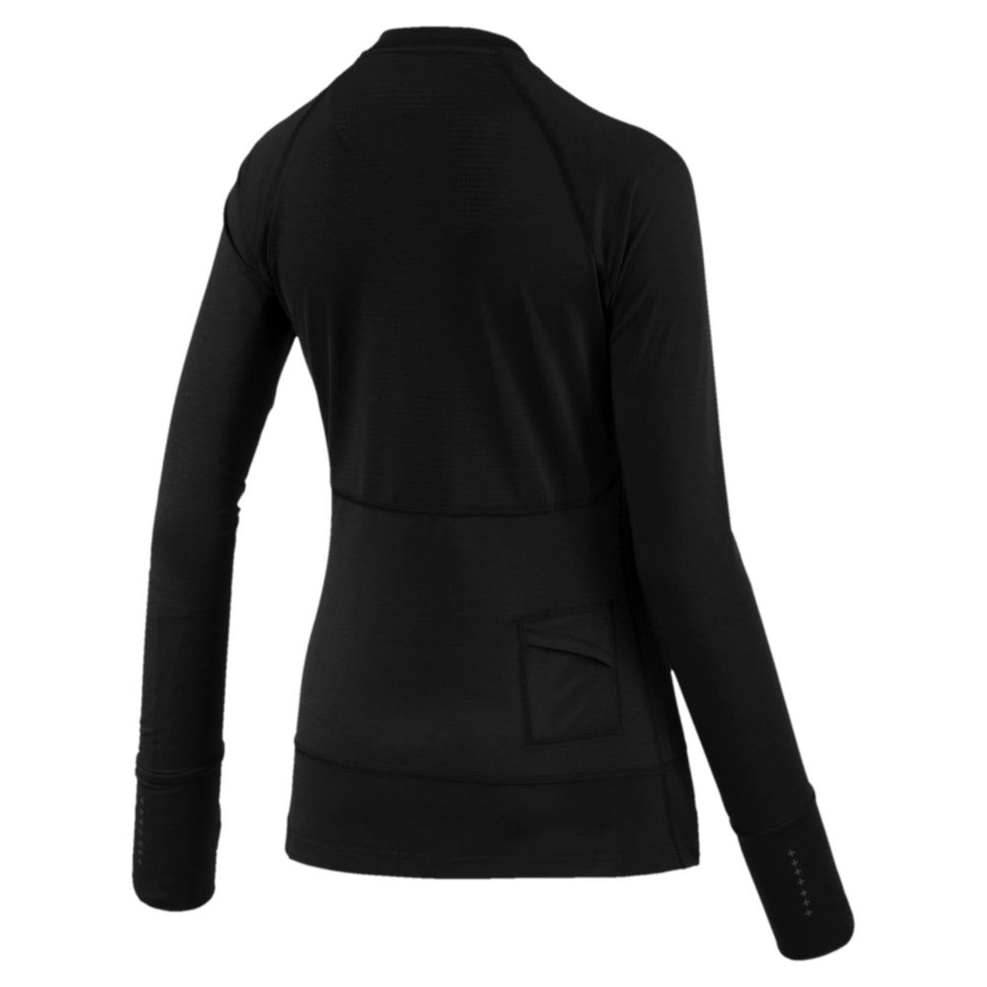 Thumbnail 2 of Winter Long Sleeve Women's Training Top, Puma Black, medium-IND