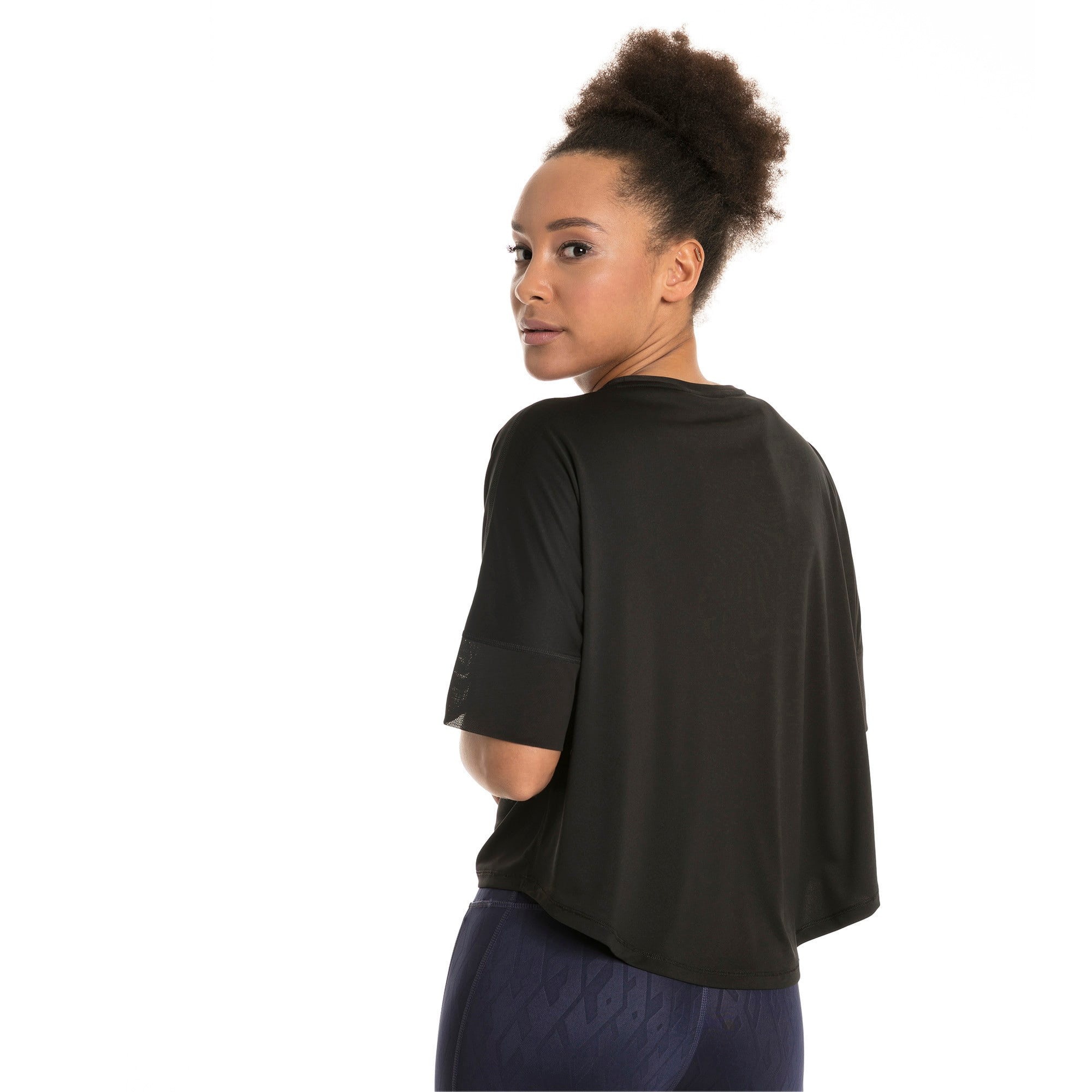 Thumbnail 3 of Explosive Women's Training Top, Puma Black, medium-IND