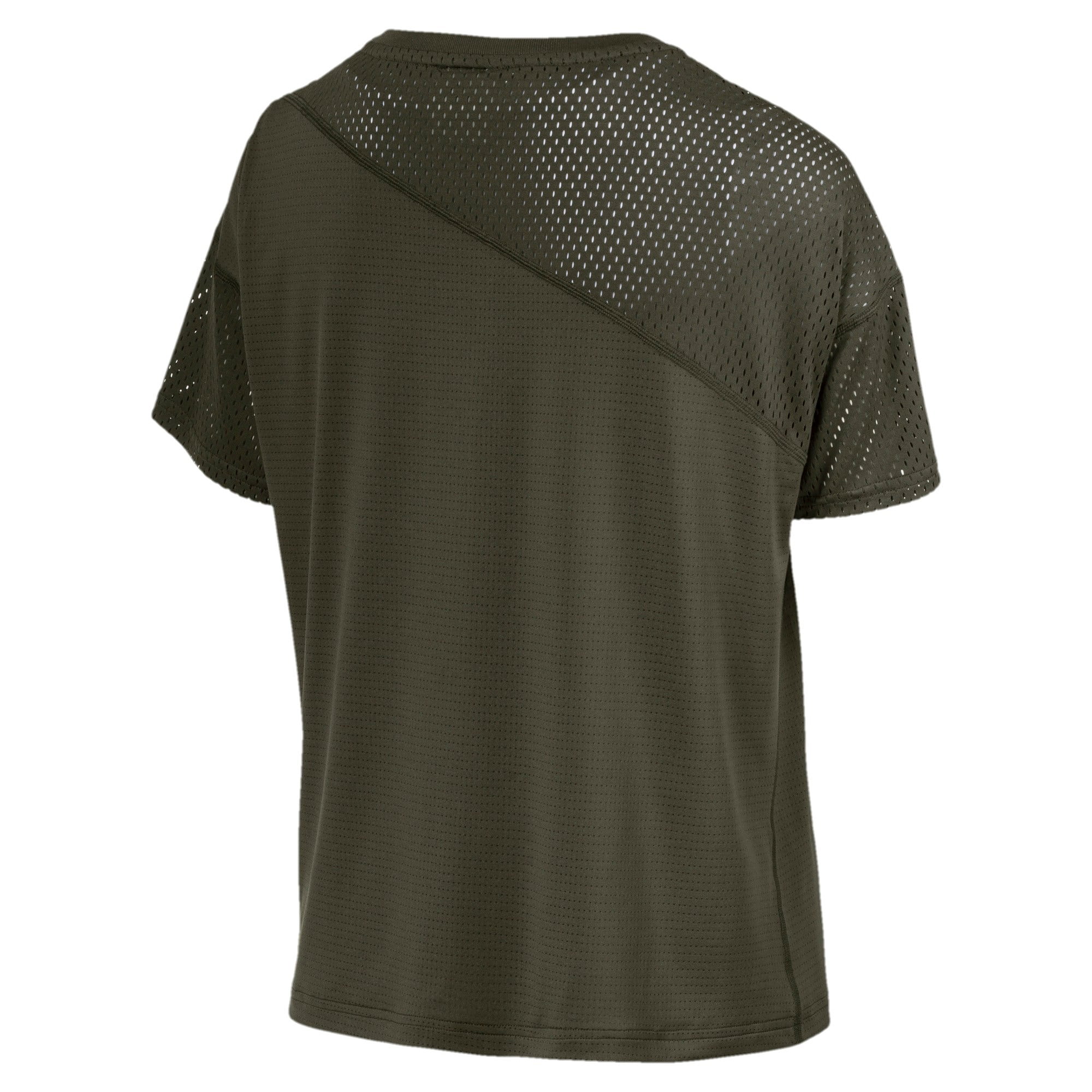 Thumbnail 5 of A.C.E. Mesh Blocked Women's Training Top, Forest Night, medium-IND
