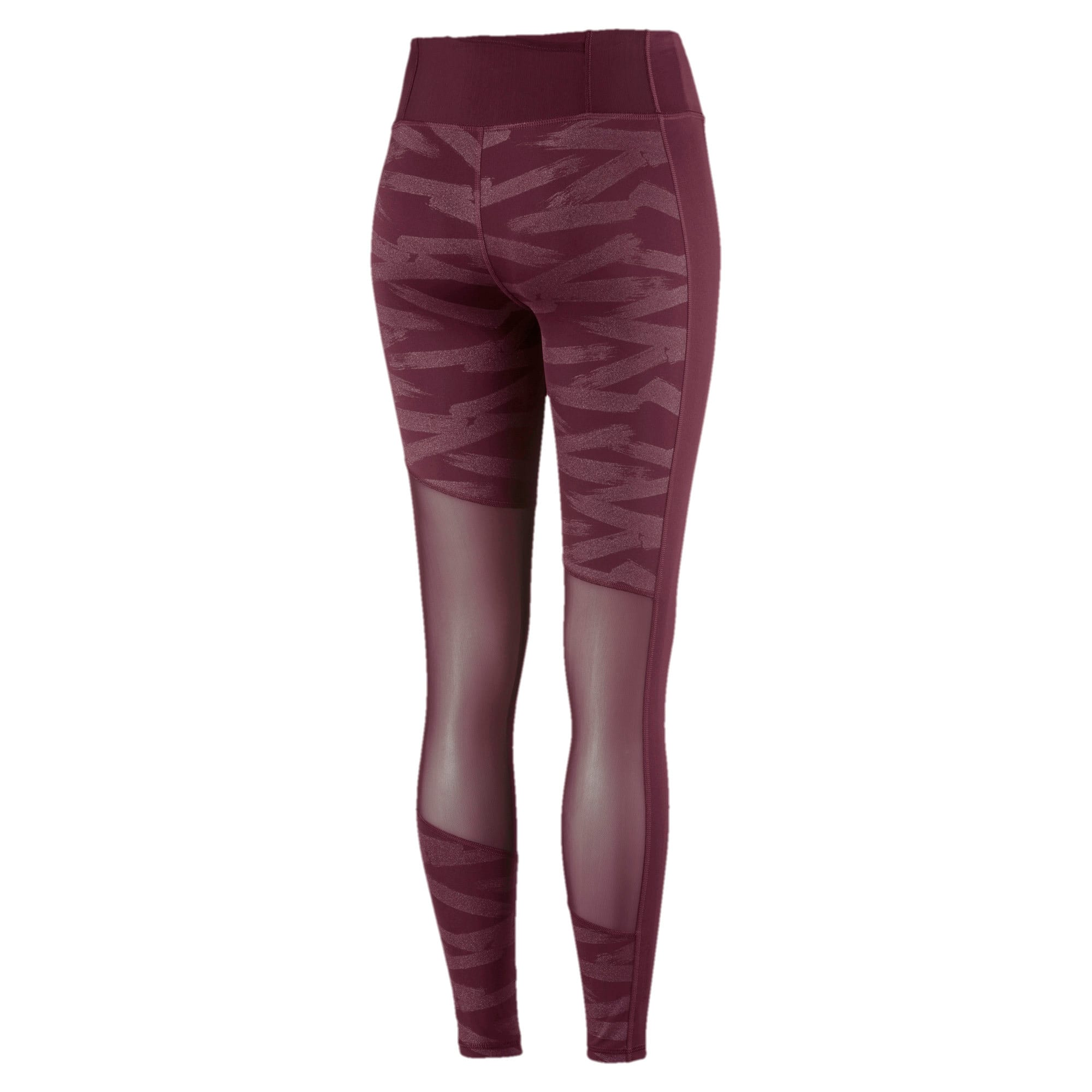 Thumbnail 5 of Always On Graphic 7/8 Women's Tights, Fig-Magenta Haze, medium-IND