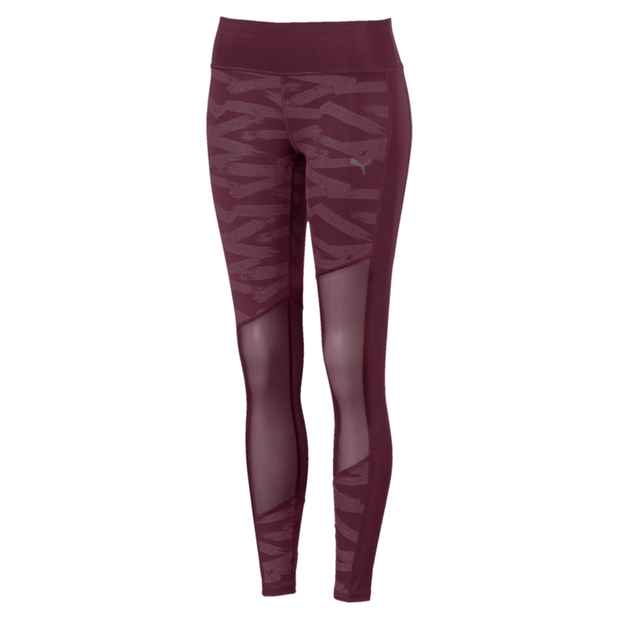 Thumbnail 1 of Always On Graphic 7/8 Women's Tights, Fig-Magenta Haze, medium-IND