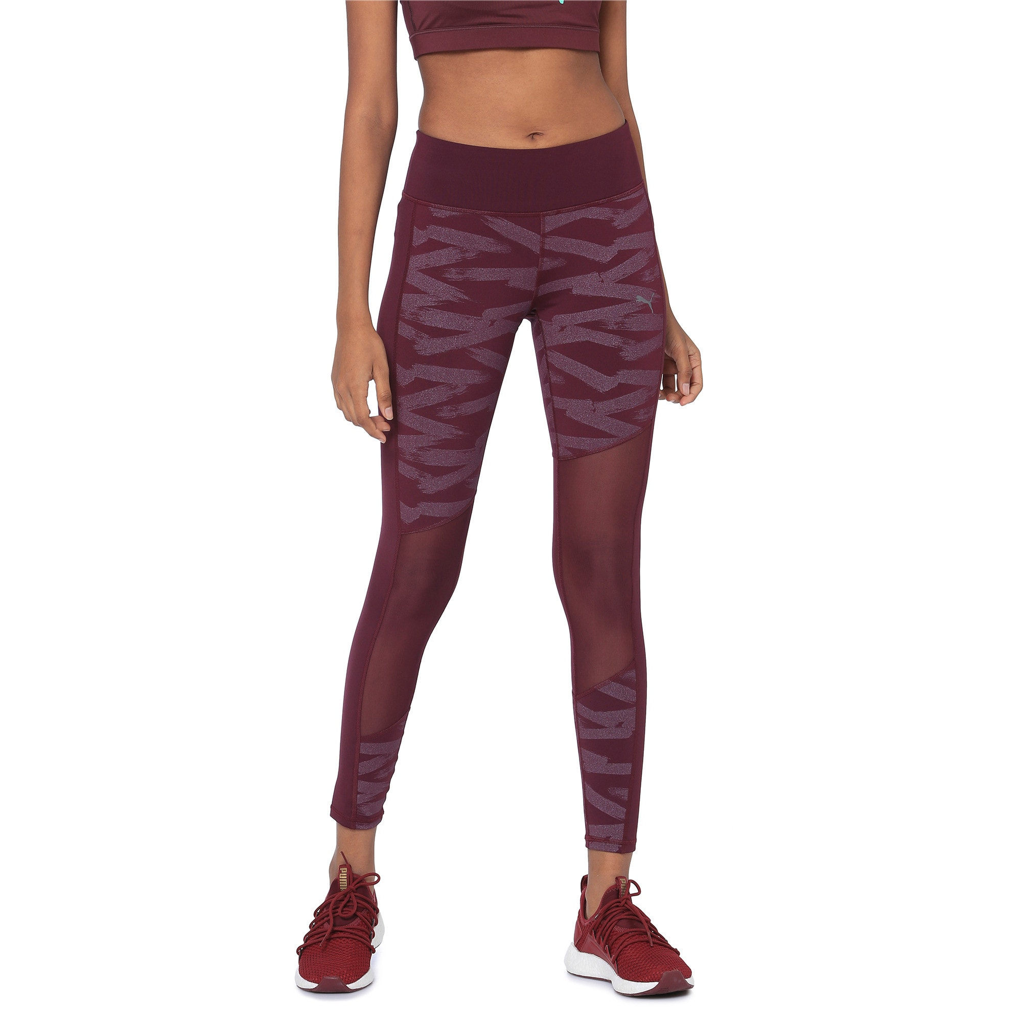 Thumbnail 2 of Always On Graphic 7/8 Women's Tights, Fig-Magenta Haze, medium-IND
