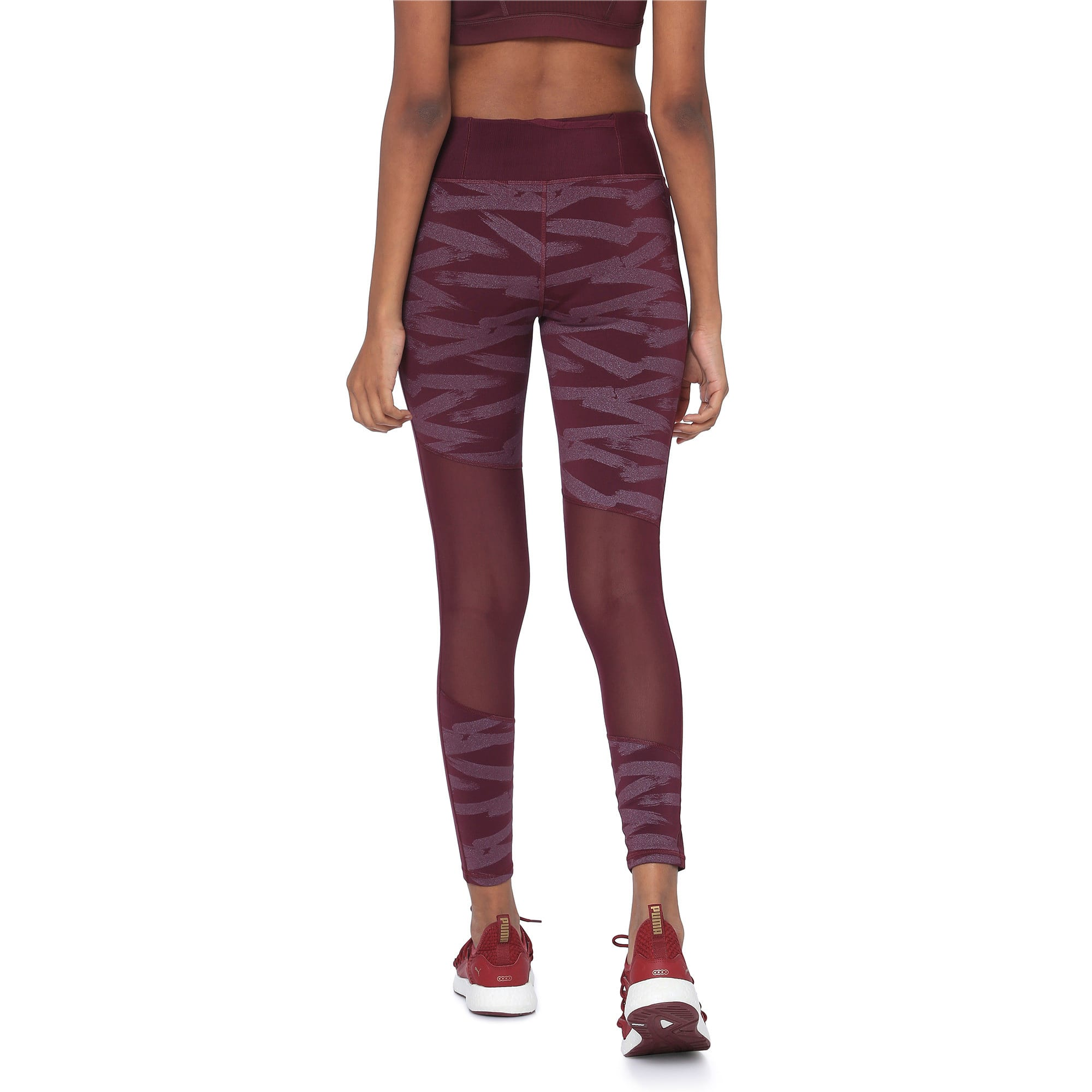 Thumbnail 3 of Always On Graphic 7/8 Women's Tights, Fig-Magenta Haze, medium-IND