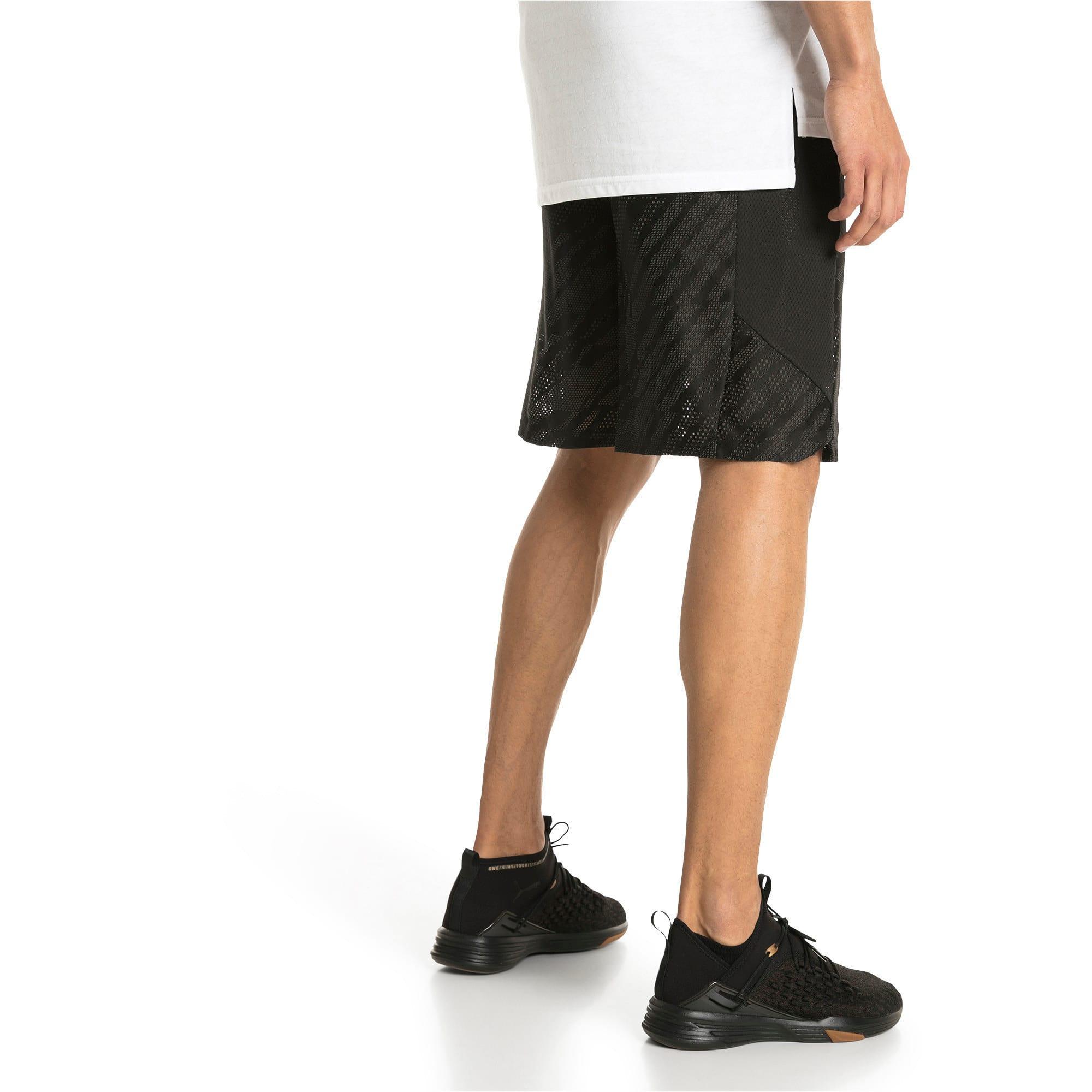 "Thumbnail 2 of VENT 10"" Men's Knit Shorts, Puma Black-Iron Gate, medium-IND"