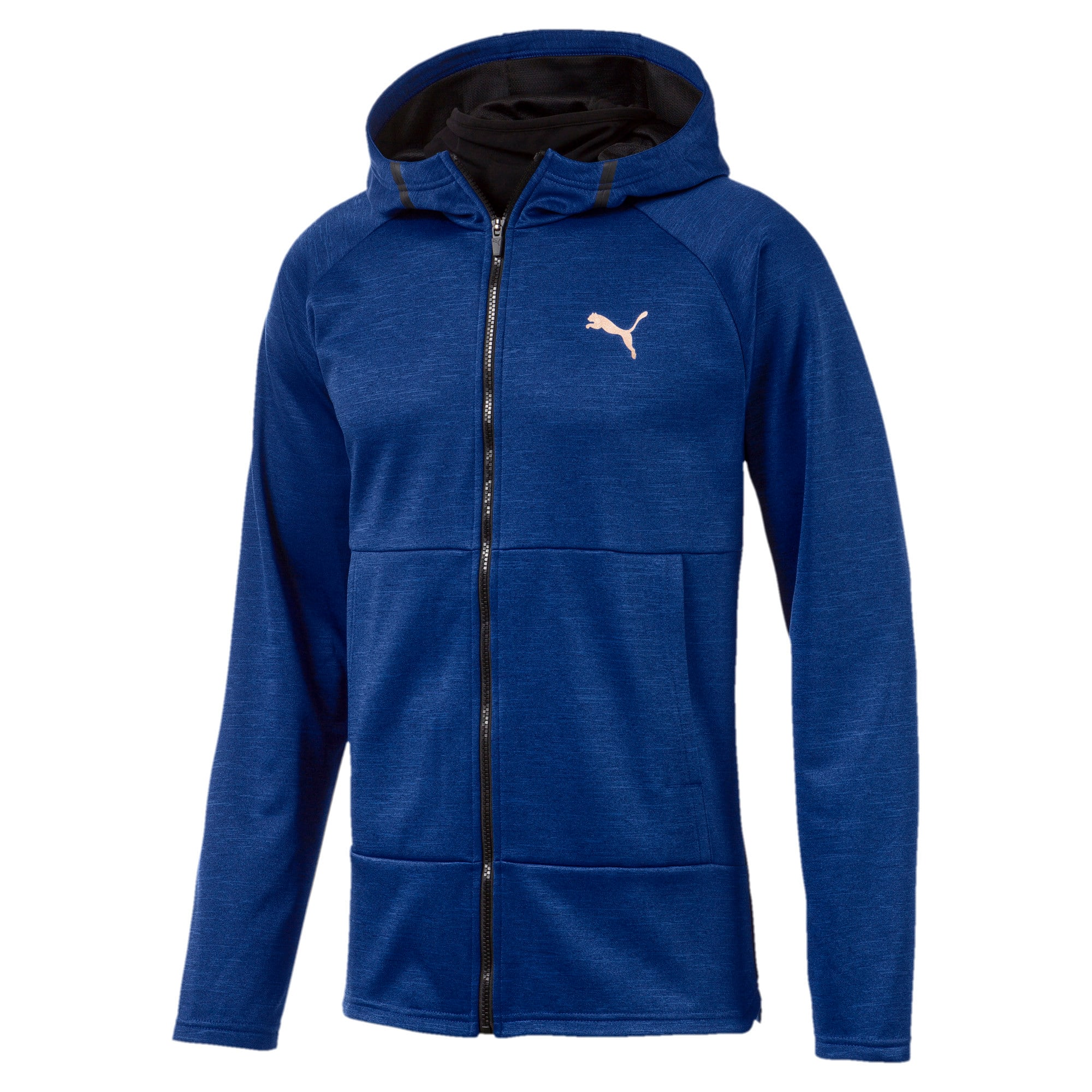 Thumbnail 4 of Q4 BND Tech Protect Jacket Puma Black He, Sodalite Blue Heather, medium-IND