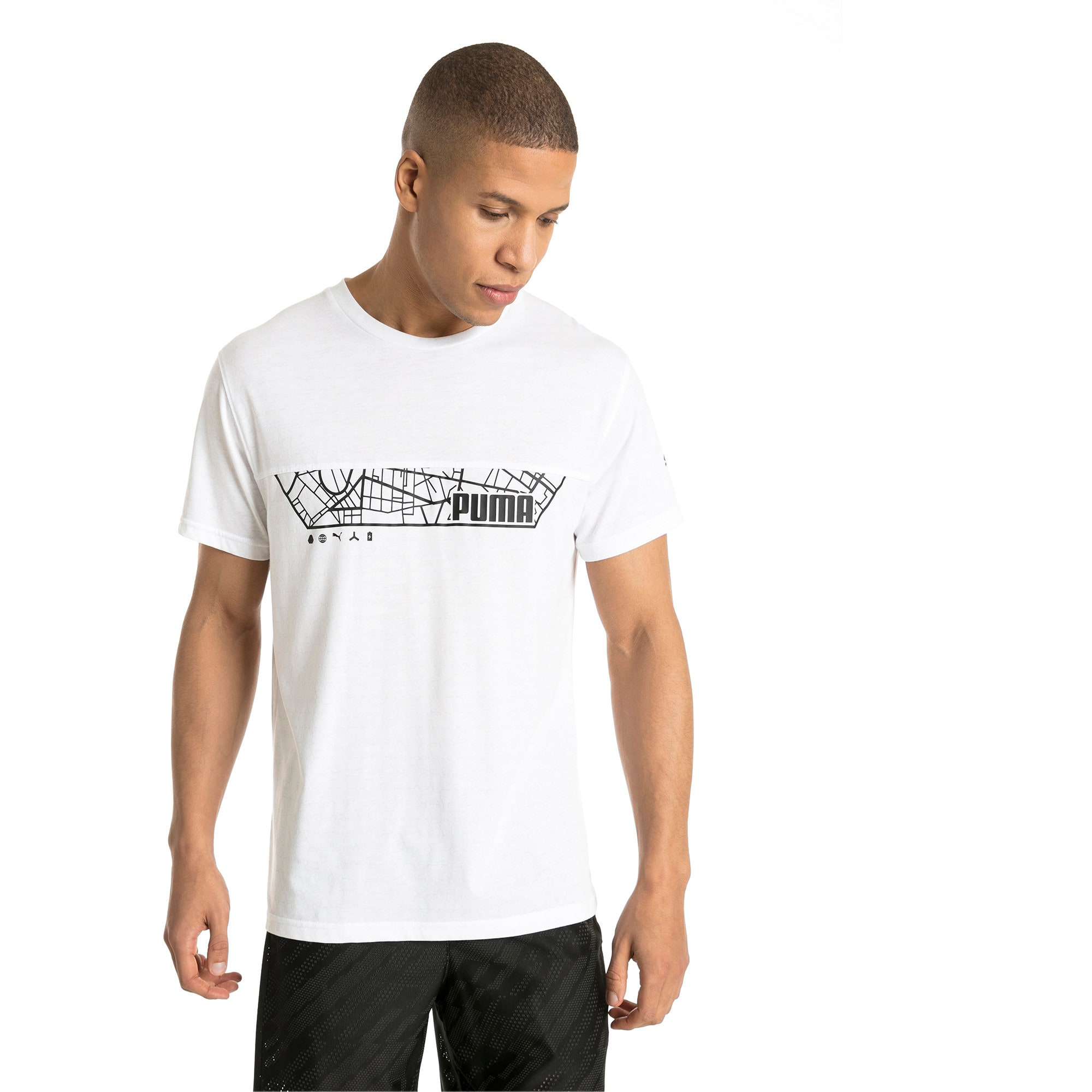 Thumbnail 2 of Energy Triblend Graphic Men's Running Tee, Puma White, medium-IND