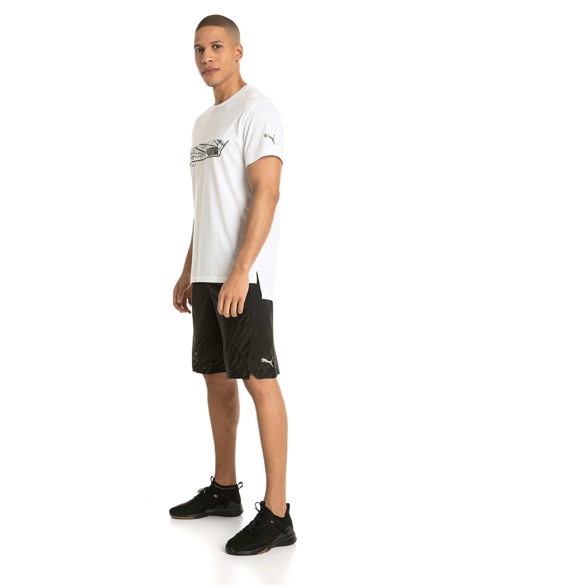 Thumbnail 4 of Energy Triblend Graphic Men's Running Tee, Puma White, medium-IND