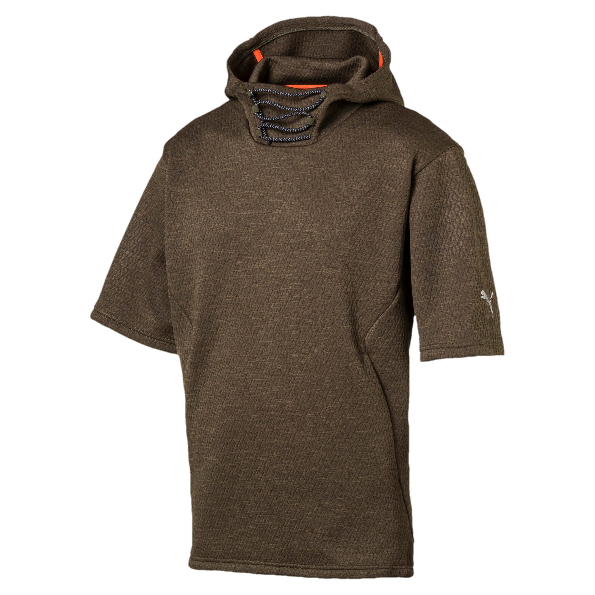 Thumbnail 4 of Training Men's Energy Short Sleeve Hoodie, Forest Night Heather, medium-IND