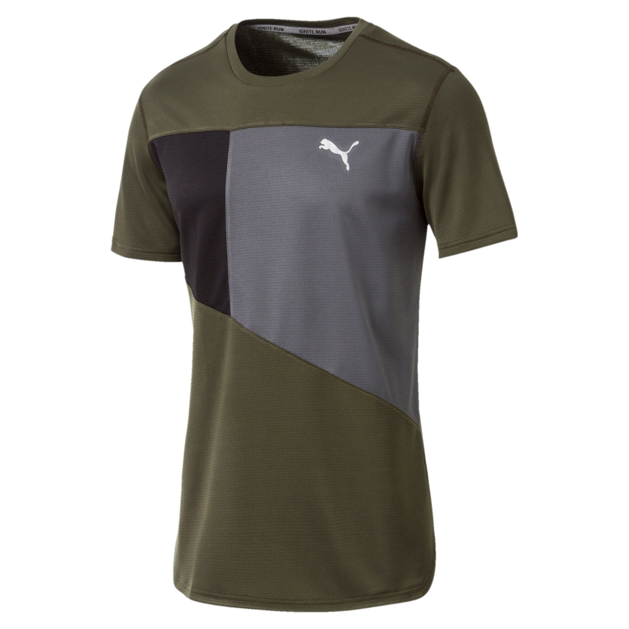 Thumbnail 4 of IGNITE Short Sleeve Men's Running Tee, Forest Night-Iron Gate, medium-IND