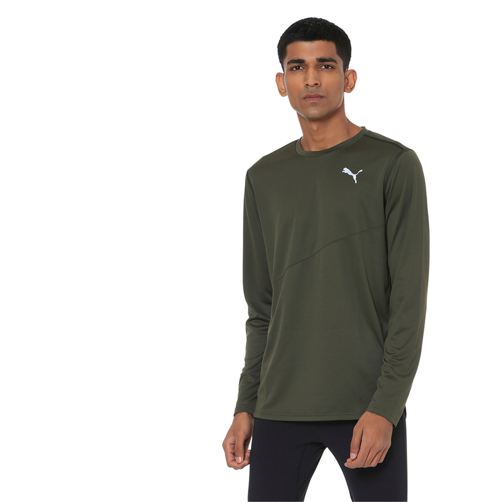 Thumbnail 1 of Ignite Long Sleeve Men's Training Top, Forest Night, medium-IND