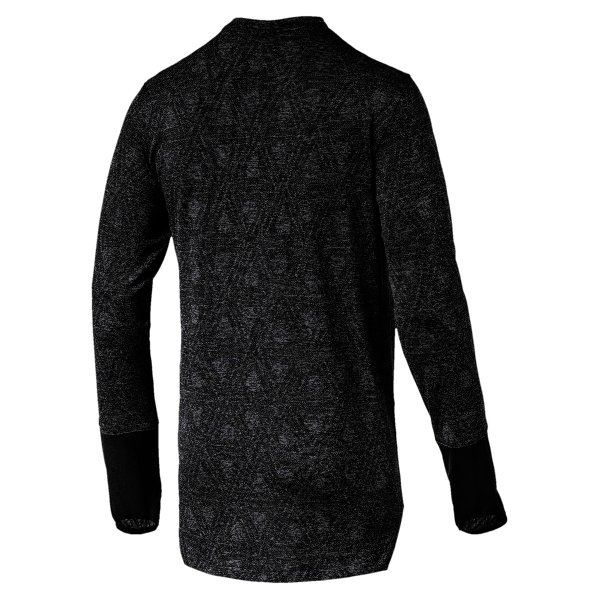 Energy Long Sleeve Tech Men's Running Top, Puma Black, large-IND