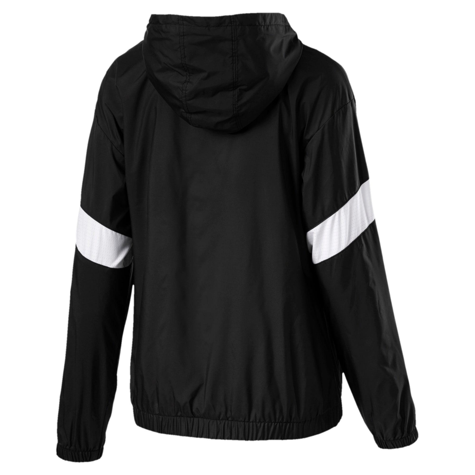 Thumbnail 4 of A.C.E Half Zip Hooded Women's Jacket, Puma Black-Puma White, medium-IND