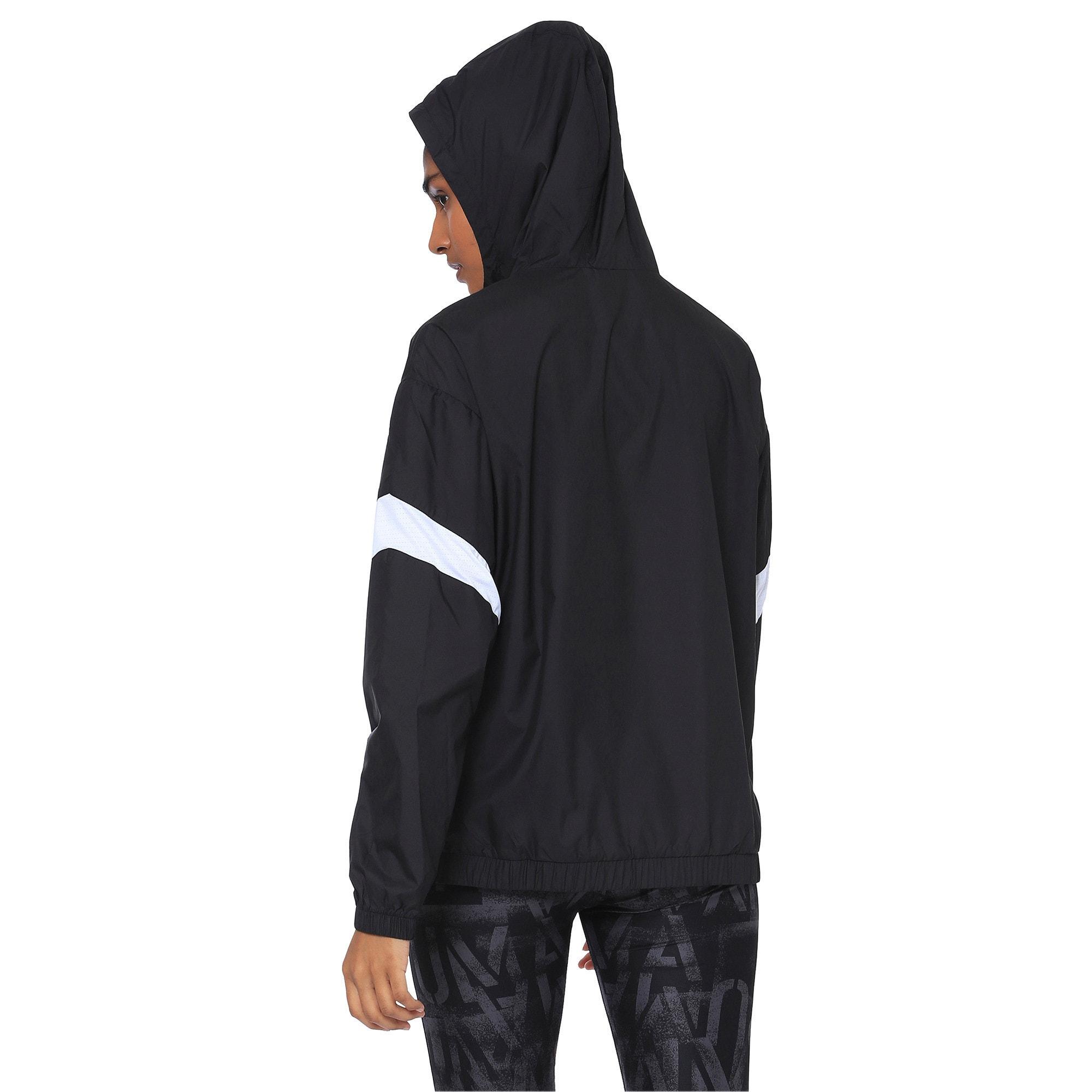 Thumbnail 1 of A.C.E Half Zip Hooded Women's Jacket, Puma Black-Puma White, medium-IND