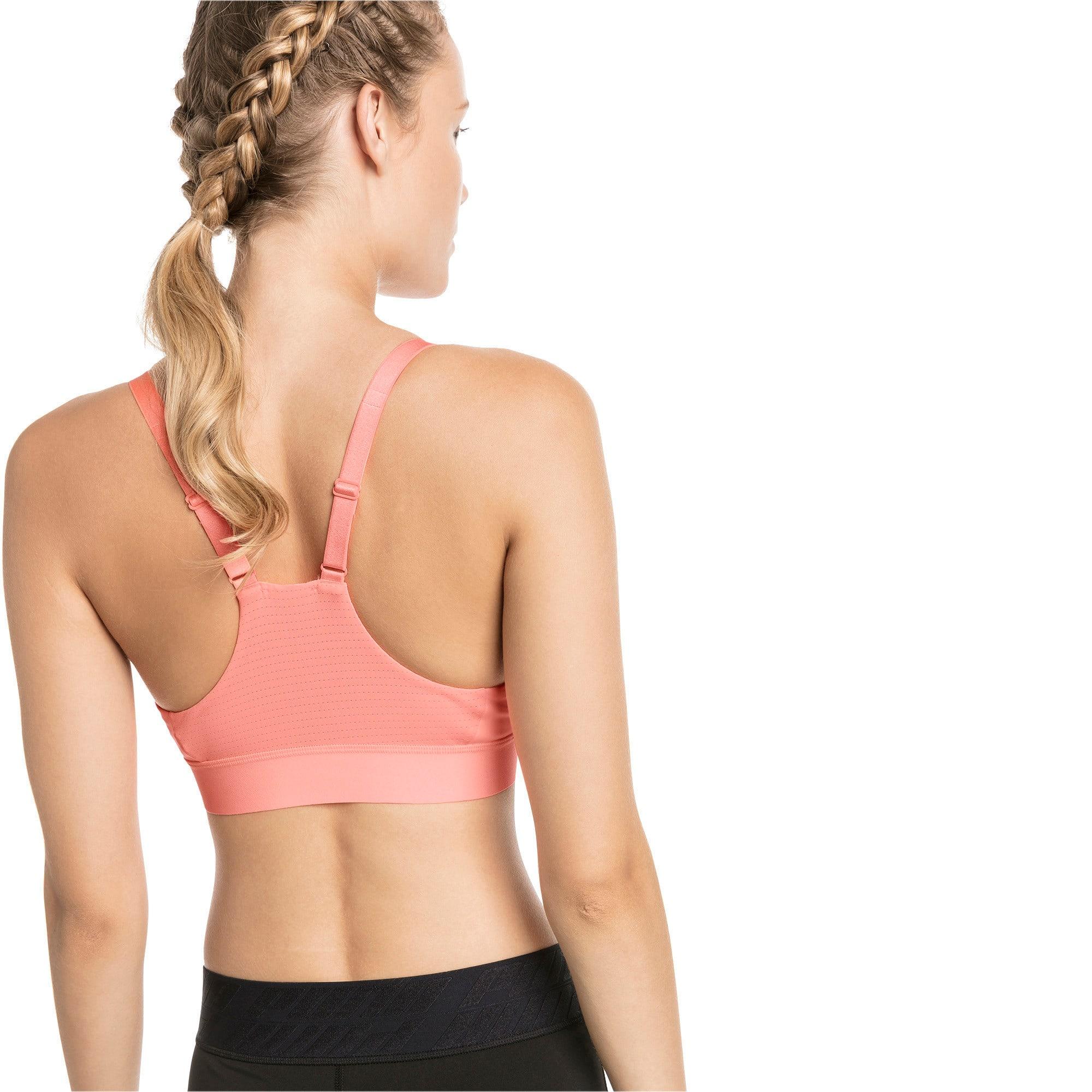 Thumbnail 2 of Mid Impact Logo Women's Bra Top, Bright Peach, medium-IND