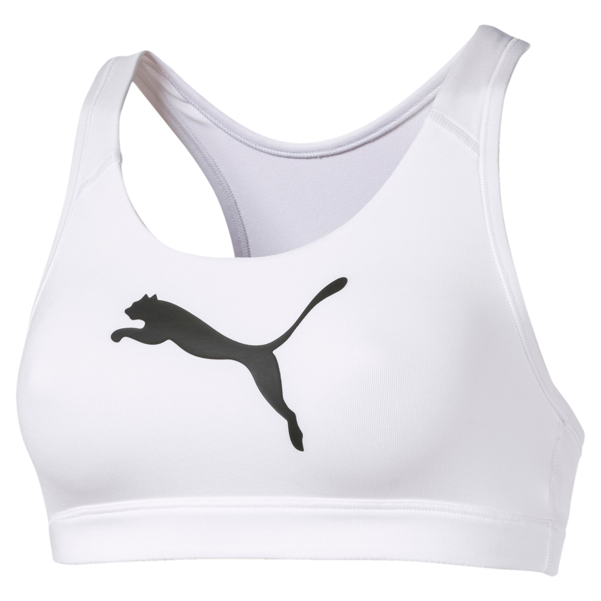 Thumbnail 2 of 4Keeps Mid Impact Women's Bra Top, Puma White-CAT, medium-IND