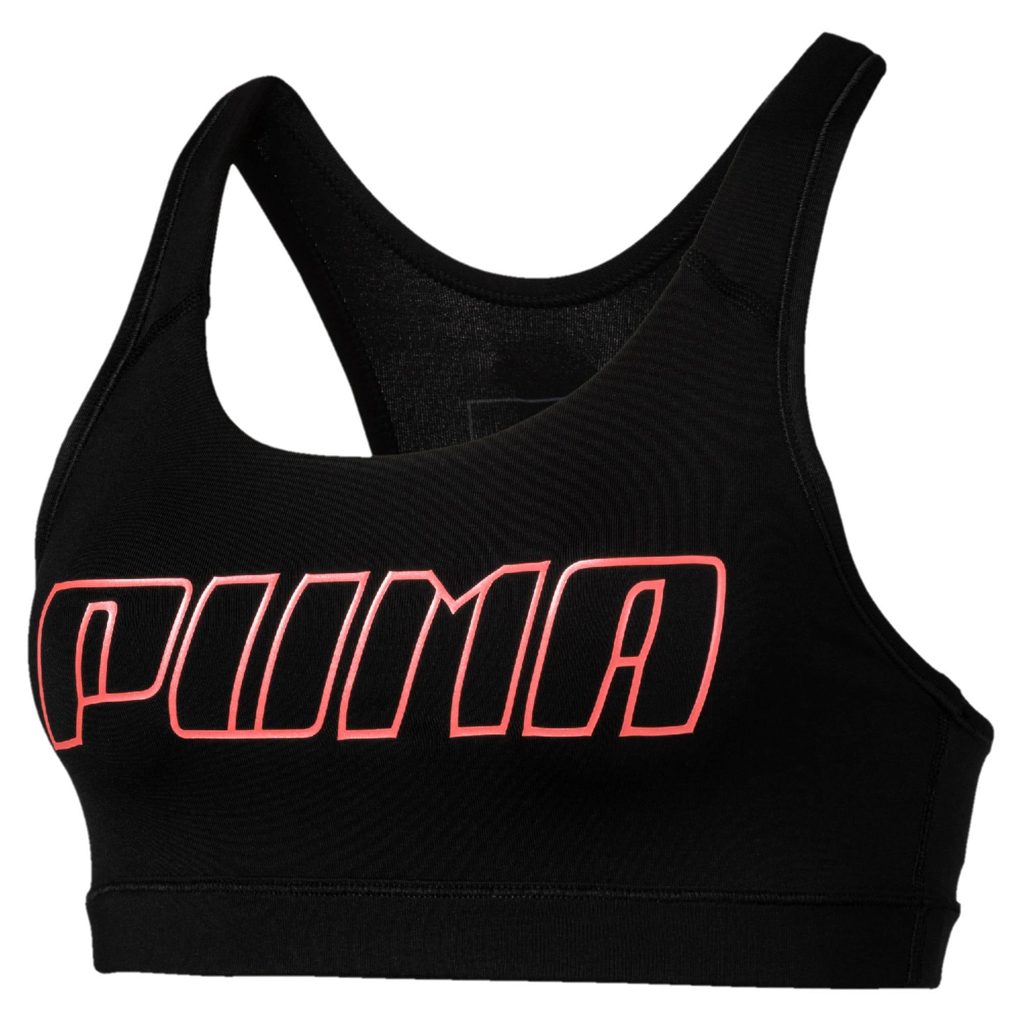 Thumbnail 4 of 4Keeps bh-top voor gemiddelde impact voor dames, Puma Black-Bright Peach PUMA, medium