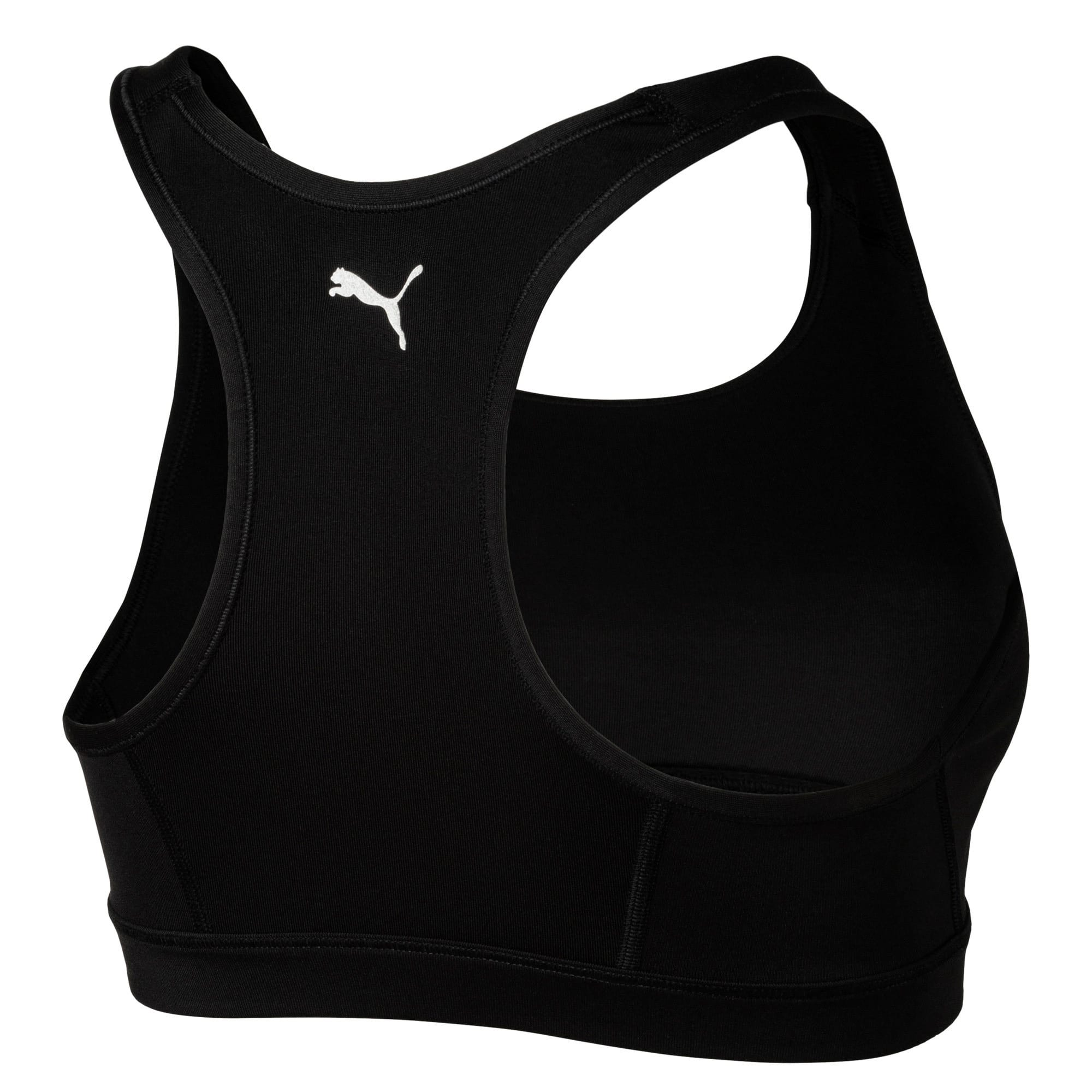 Thumbnail 4 of 4Keeps Women's Mid Impact Bra, Puma Black-Silver PUMA, medium