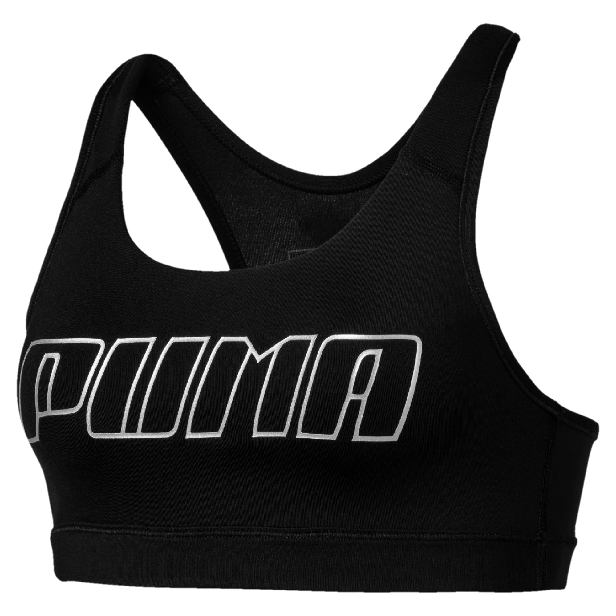 Thumbnail 3 of 4Keeps Women's Mid Impact Bra, Puma Black-Silver PUMA, medium