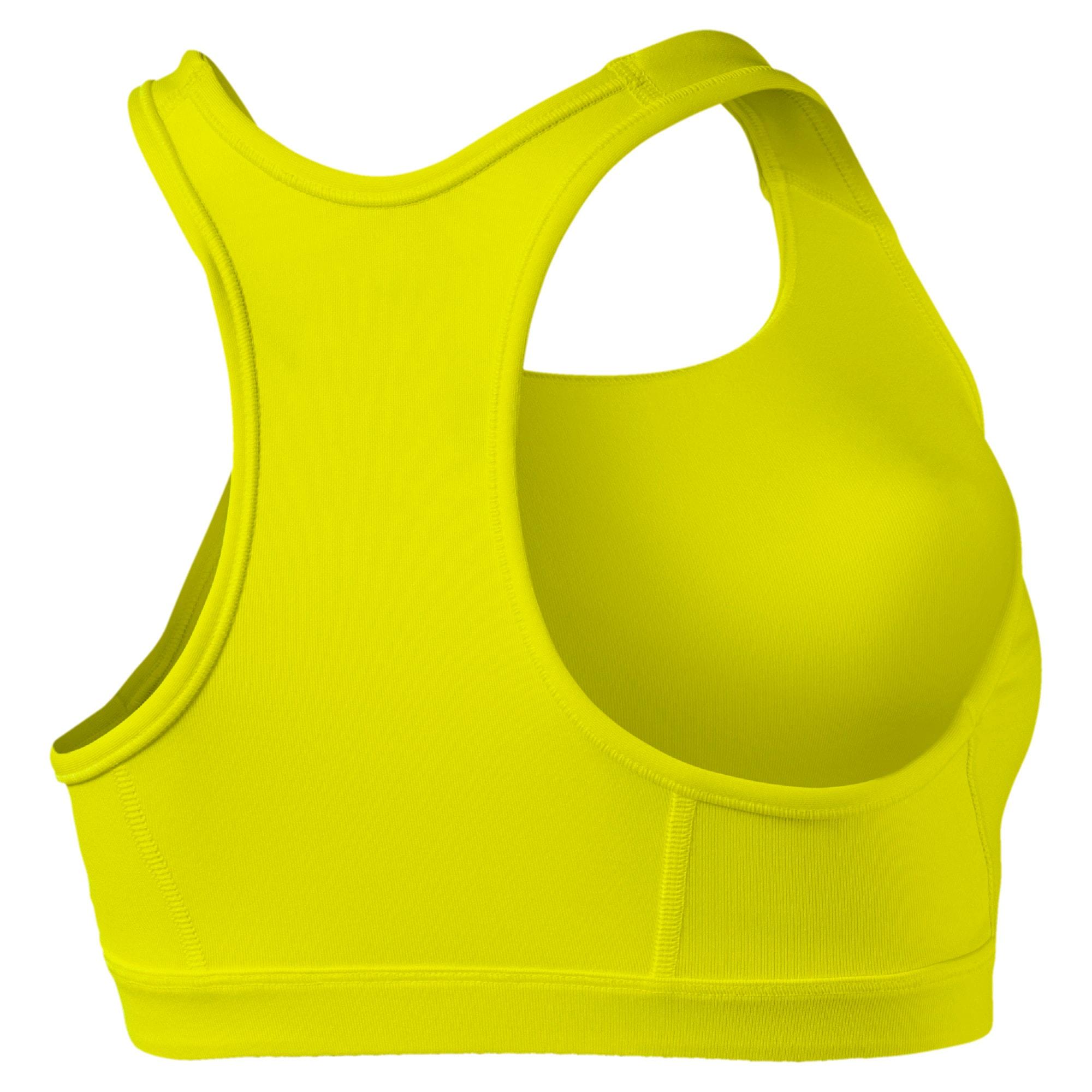 Thumbnail 5 of 4Keeps Women's Mid Impact Bra, Yellow Alert, medium