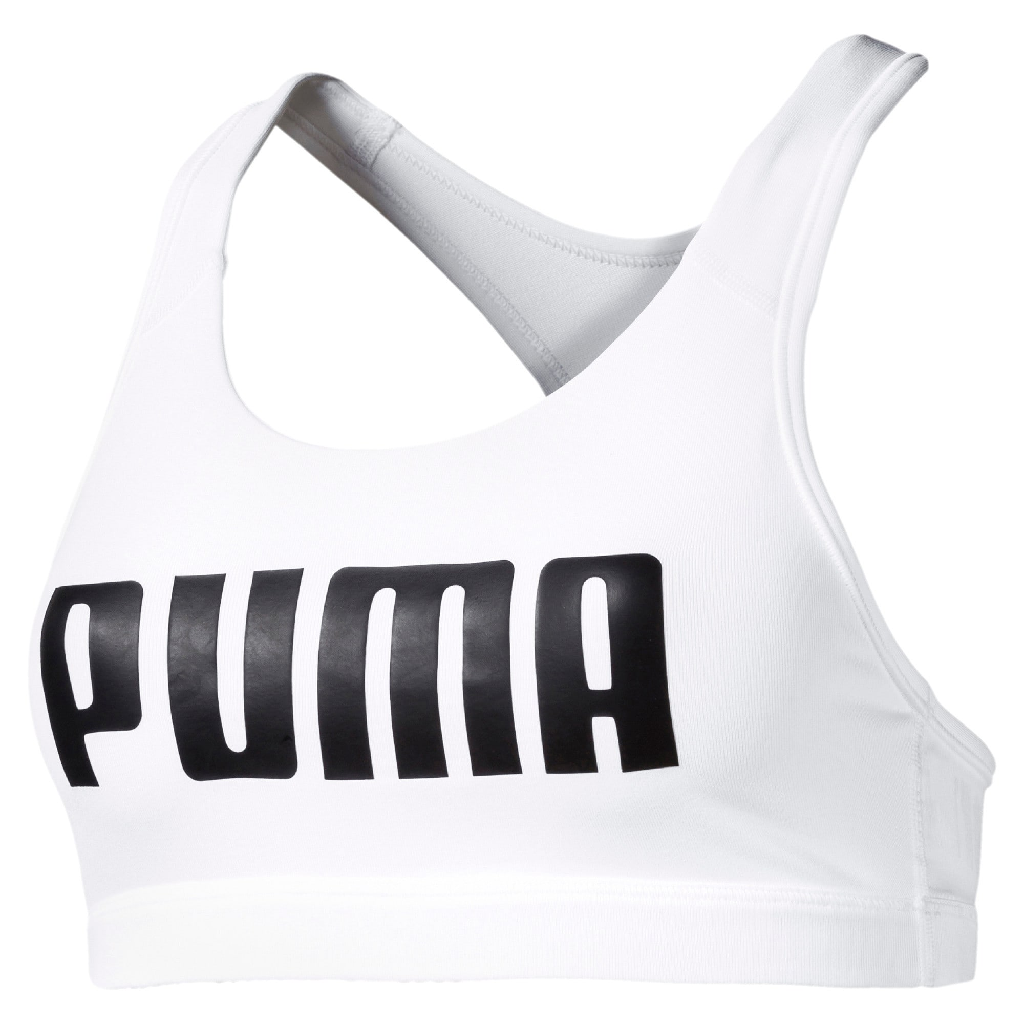 Thumbnail 4 of 4Keeps Mid Impact Women's Bra Top, Puma White-Puma Black, medium