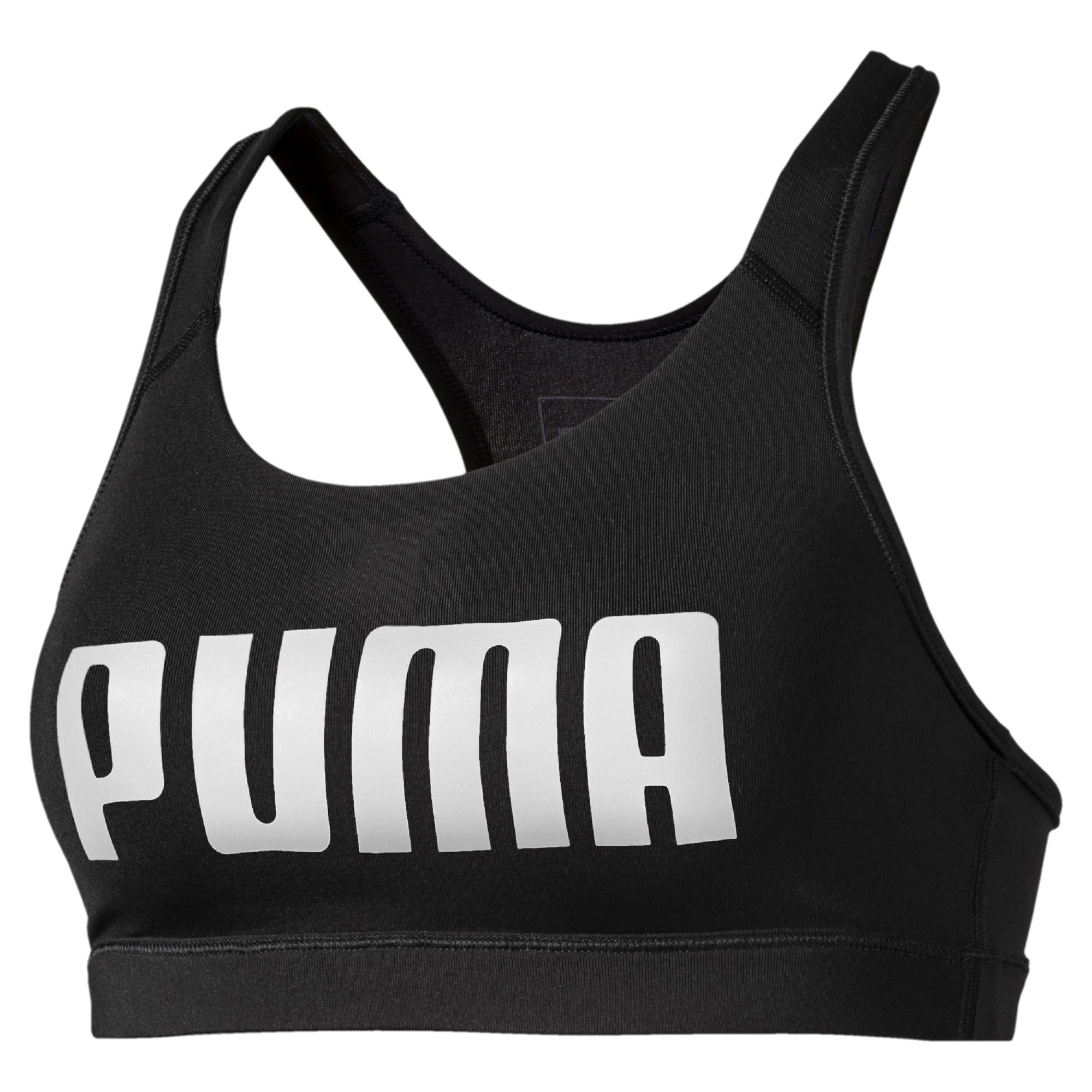 Thumbnail 4 of 4Keeps Mid Impact Women's Bra Top, Puma Black-Puma White, medium