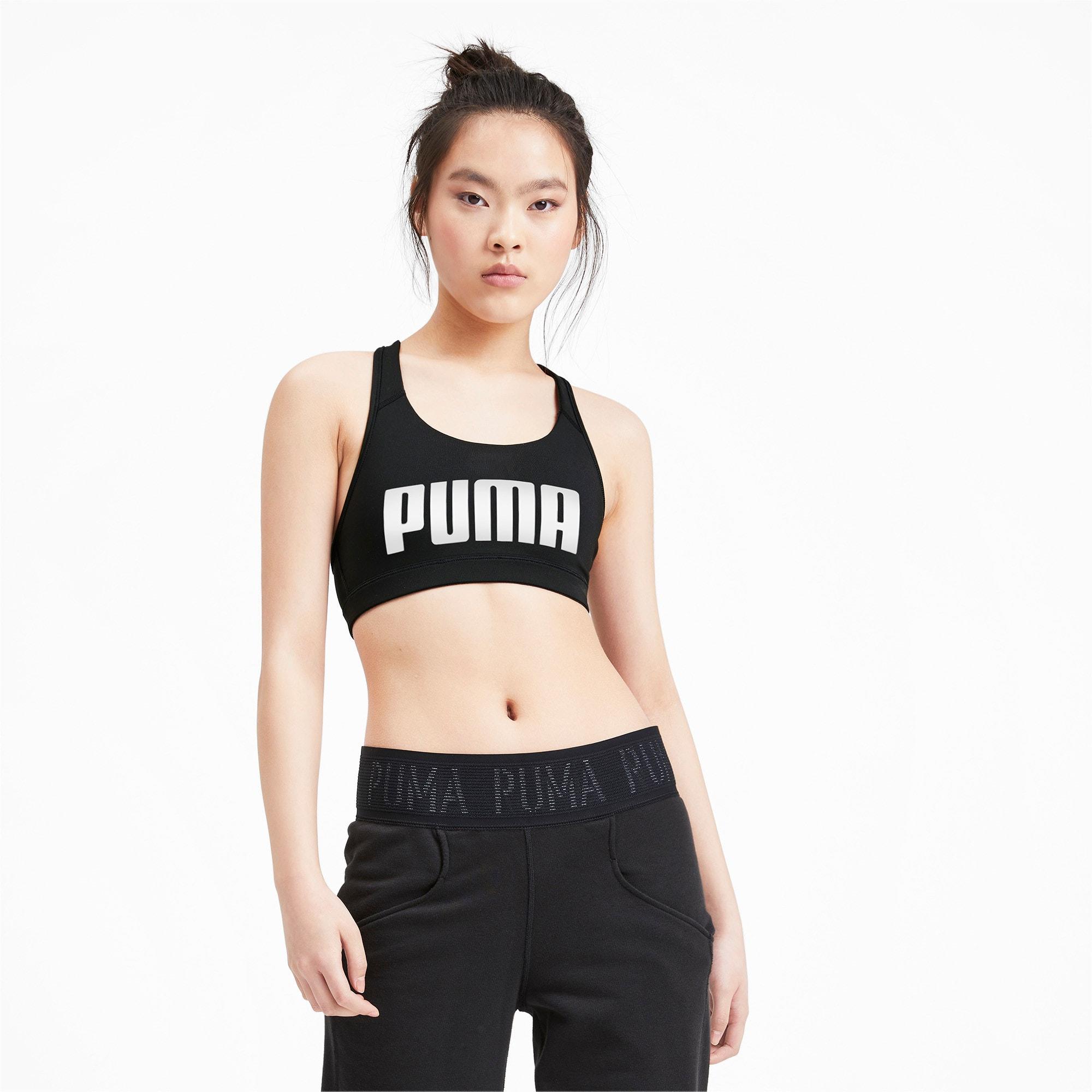 Thumbnail 1 of 4Keeps Mid Impact Women's Bra Top, Puma Black-Puma White, medium