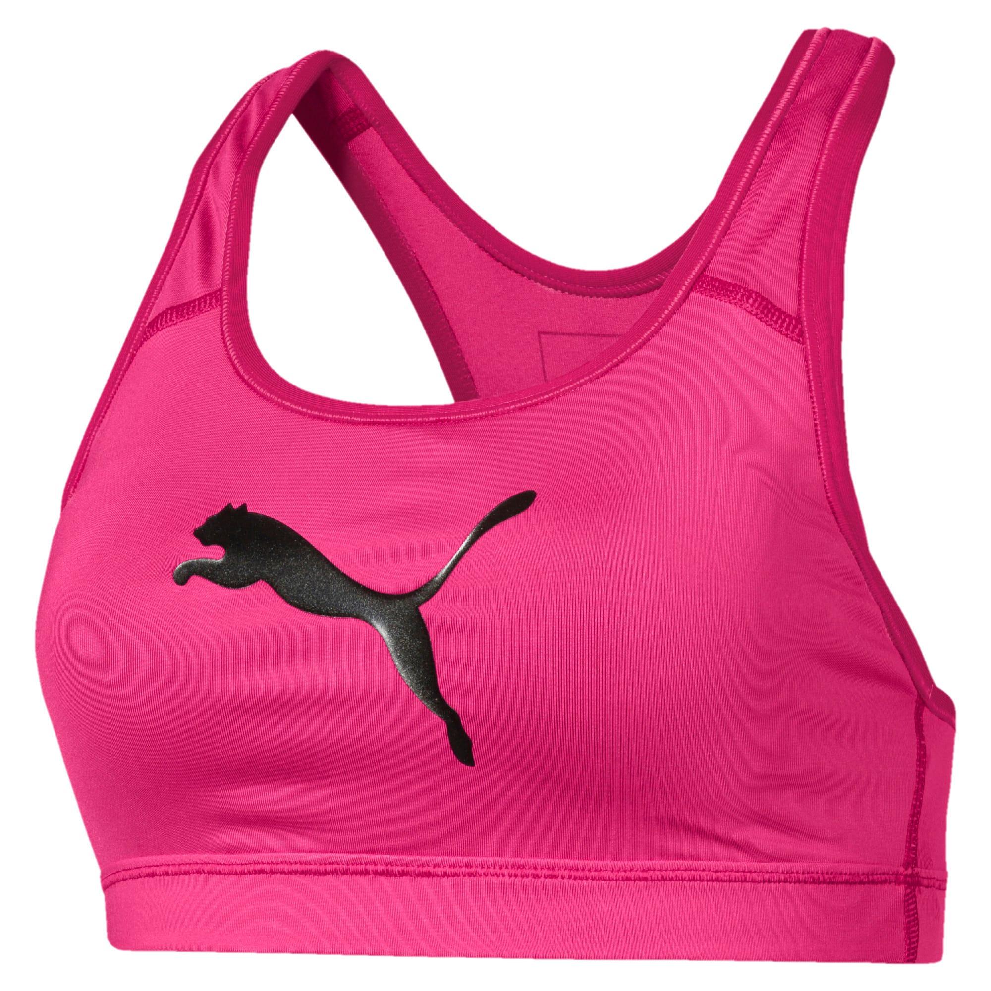 Thumbnail 4 of Training Women's 4Keeps Mid Impact Bra Top, Fuchsia Purple-CAT, medium-IND