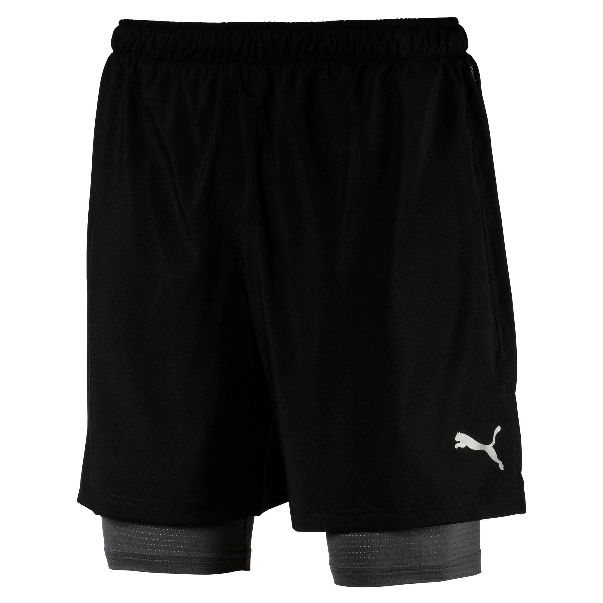 Thumbnail 4 of Running Men's IGNITE 2-in-1 Shorts, Puma Black, medium-IND