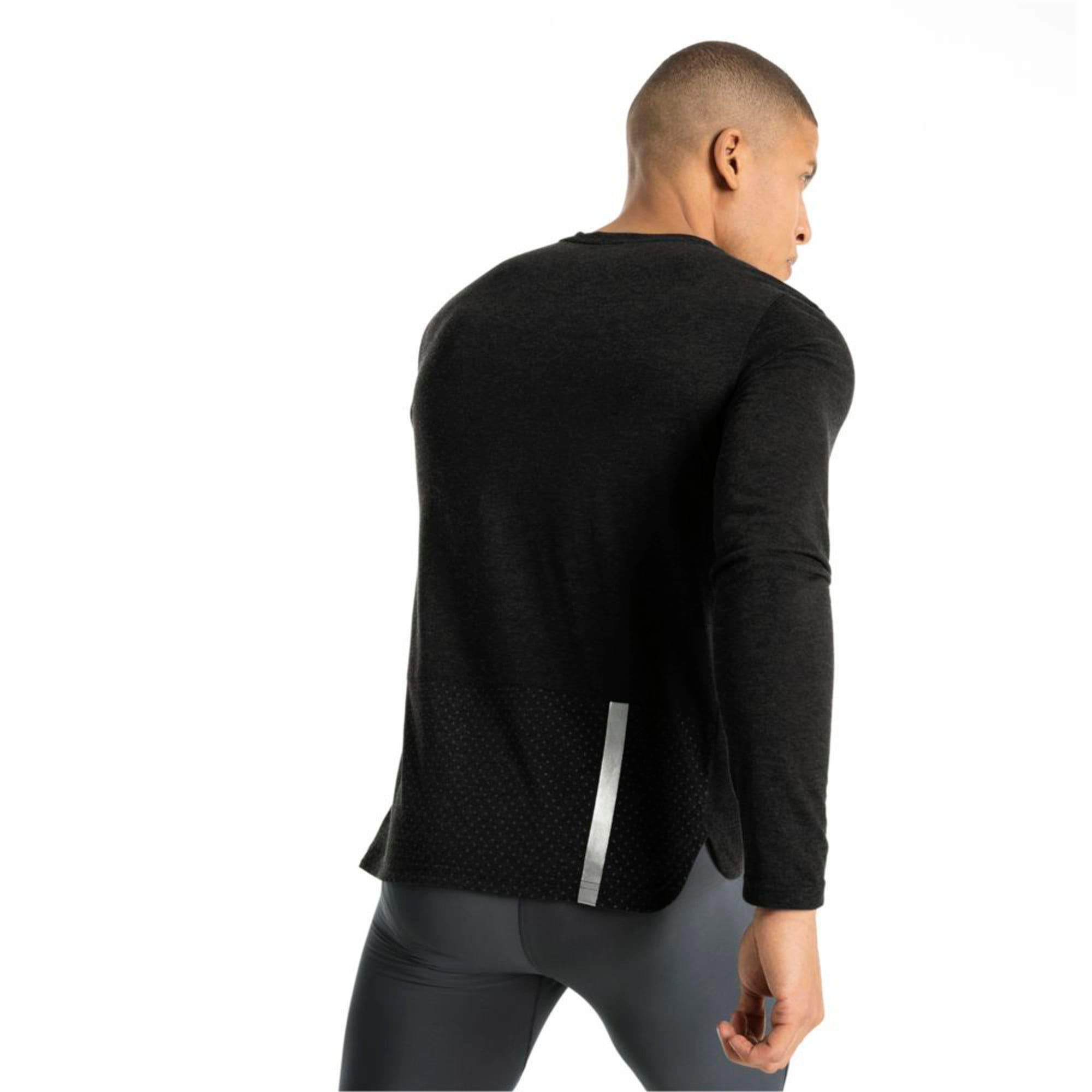 Thumbnail 5 of Warming Long Sleeve Men's Training Top, Puma Black Heather, medium-IND