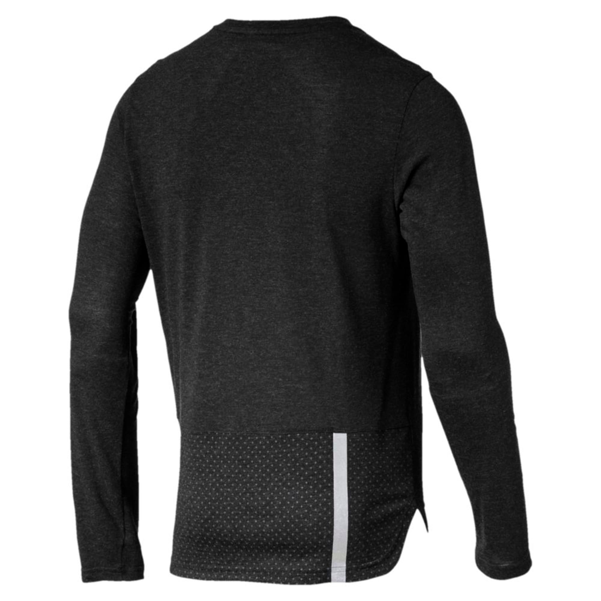 Thumbnail 2 of Warming Long Sleeve Men's Training Top, Puma Black Heather, medium-IND